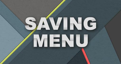 Saving Menus