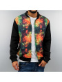 Just Rhyse Galaxy College Jacket Black Red