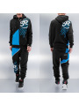 Just Rhyse Logo Sweat Suit Black Blue