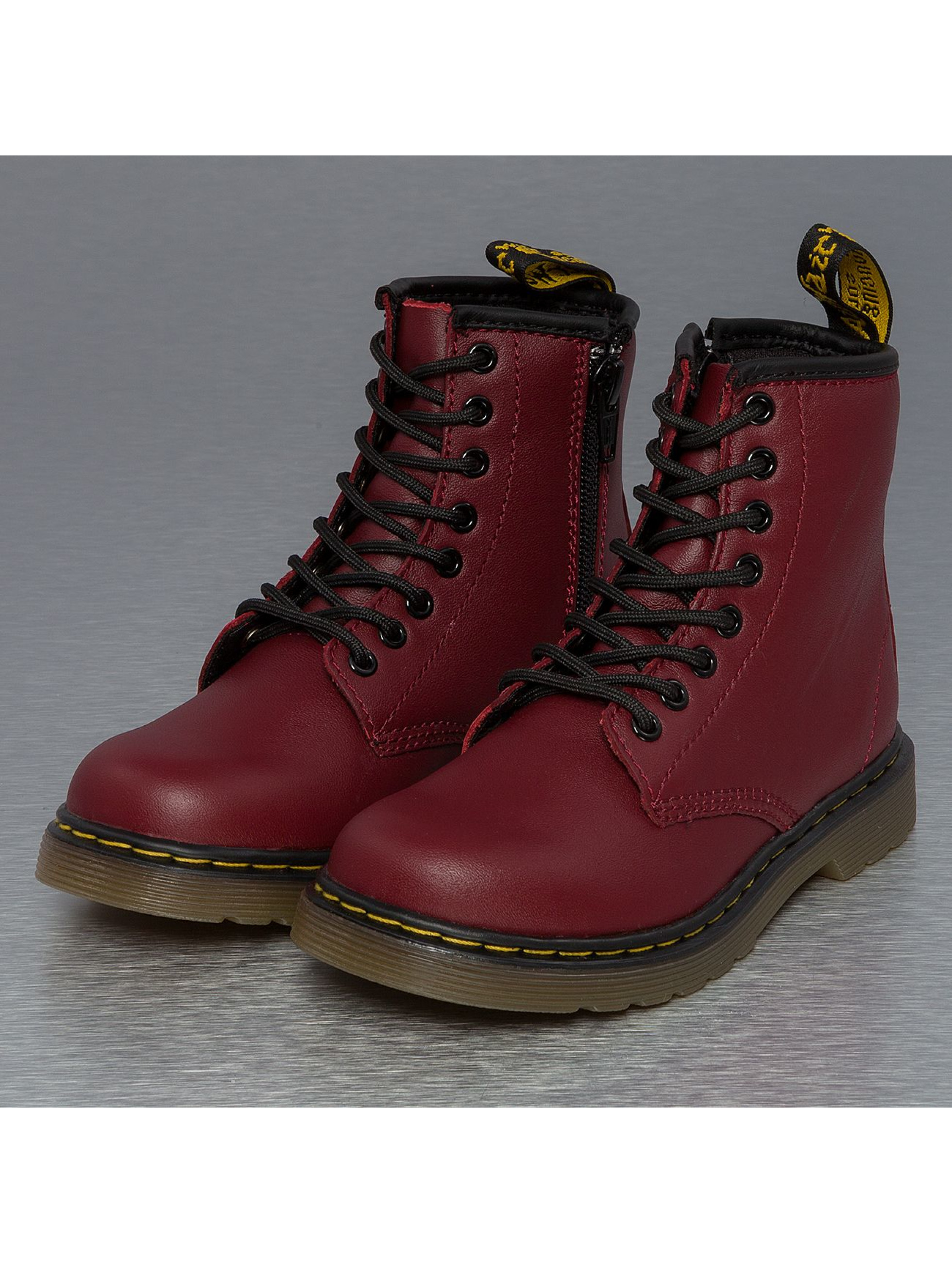 dr martens schuhe boots delaney in rot 117190