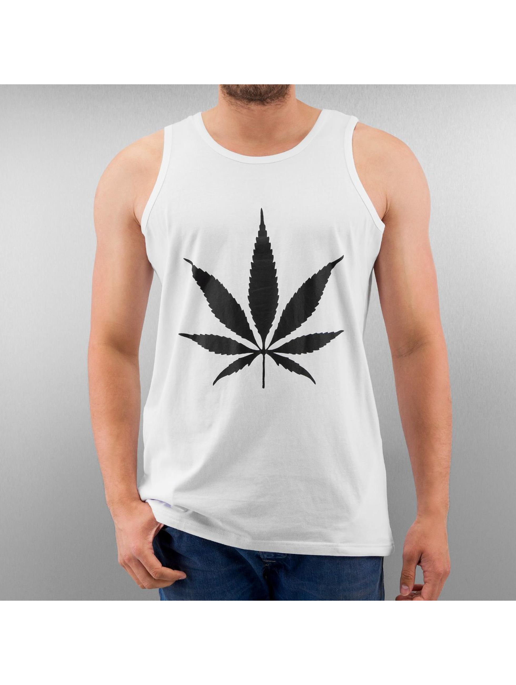 TrueSpin-Uomini-Maglieria-Tank-Tops-Cannabis-No-1-bianco-129819-M