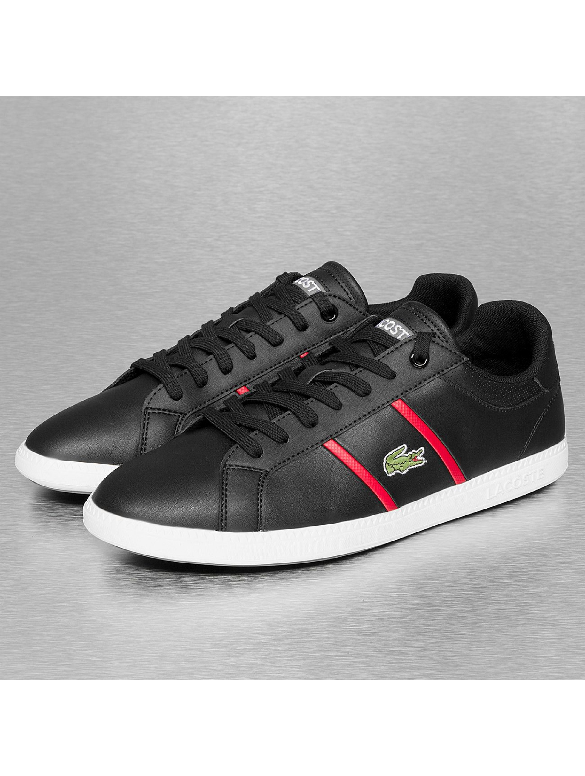 lacoste schuhe sneaker graduate evo crt spm in schwarz. Black Bedroom Furniture Sets. Home Design Ideas