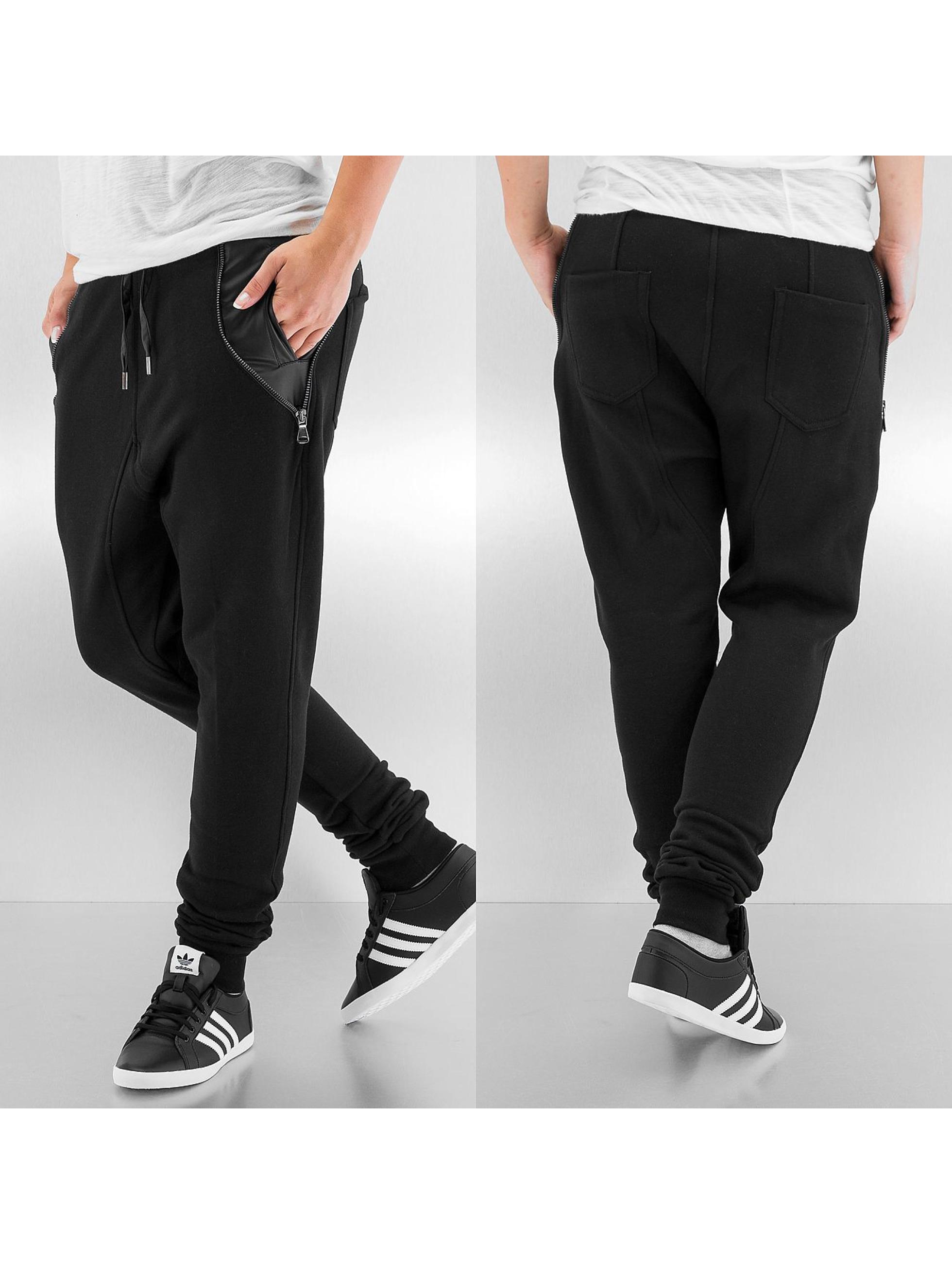 urban classics hose jogginghose side zip leather. Black Bedroom Furniture Sets. Home Design Ideas