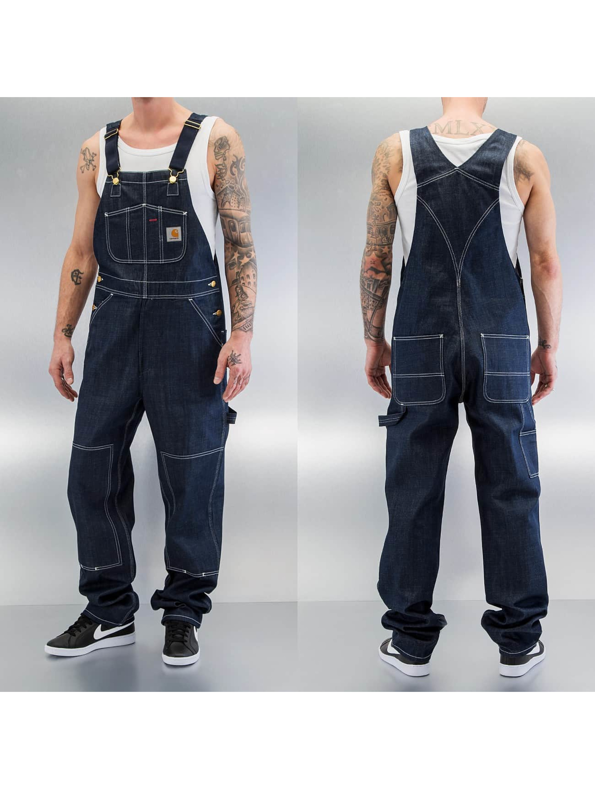 carhartt wip jeans straight fit jeans bib in blau 223922. Black Bedroom Furniture Sets. Home Design Ideas