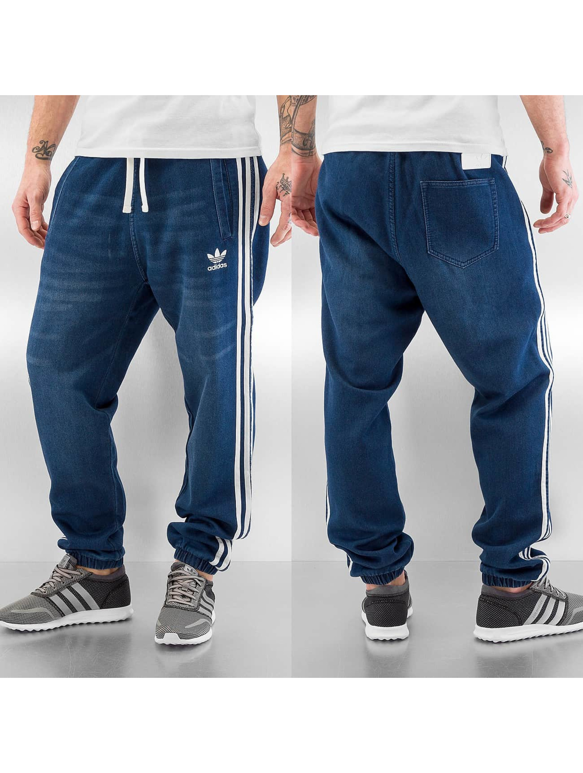 adidas herren jogginghose french terry denim slim ebay. Black Bedroom Furniture Sets. Home Design Ideas