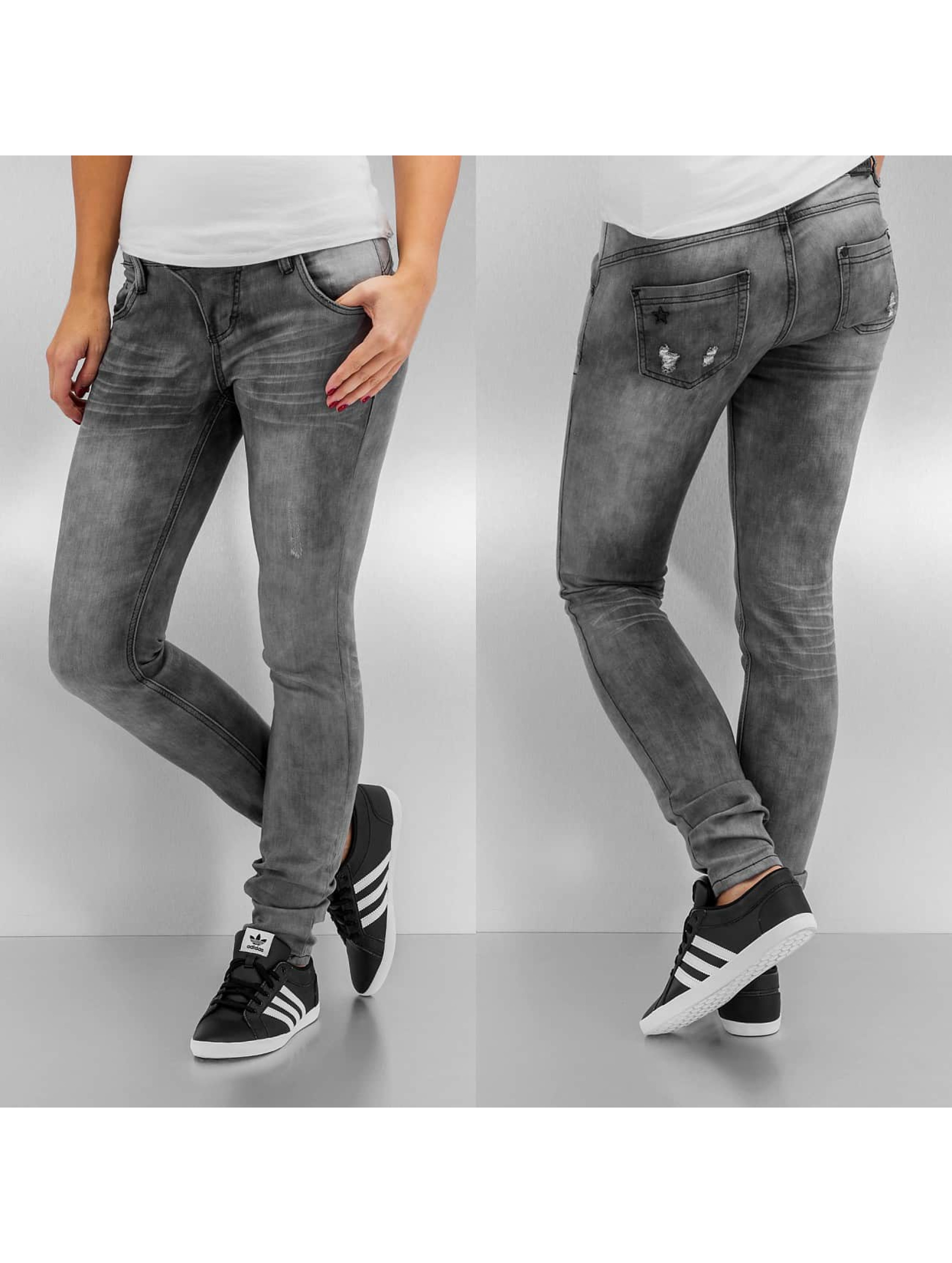 sublevel jeans skinny jeans just love in grau 241132. Black Bedroom Furniture Sets. Home Design Ideas
