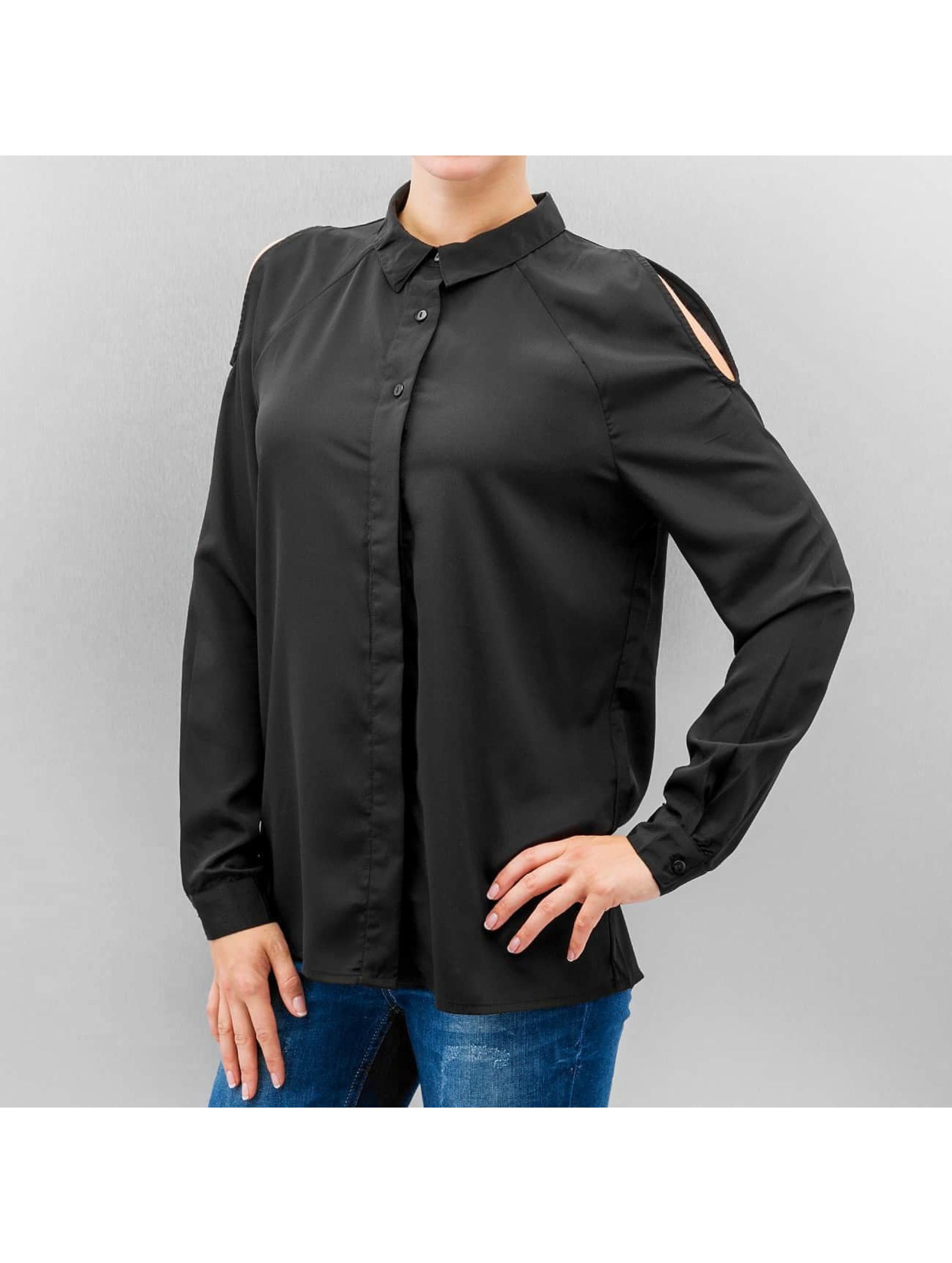 vero moda oberteil bluse vmnew cold shoulder in schwarz. Black Bedroom Furniture Sets. Home Design Ideas