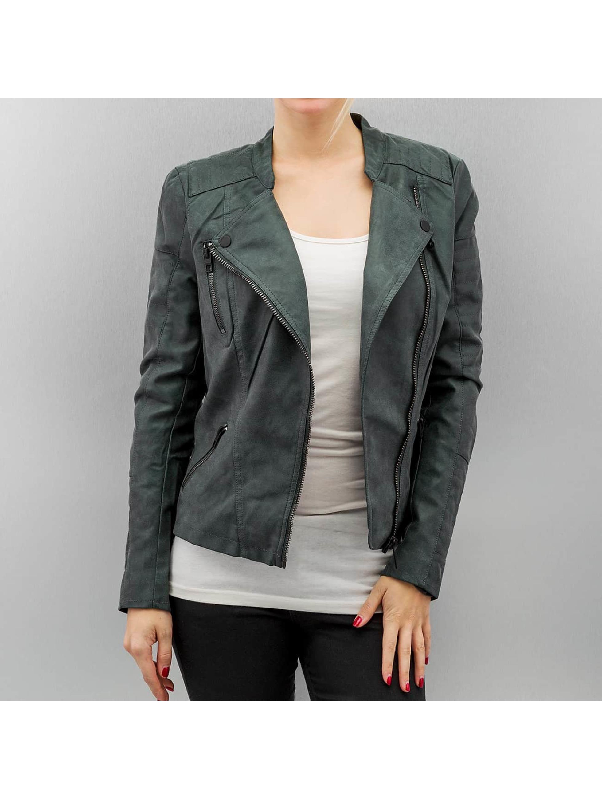 only damen lederjacke onlava faux leather khaki ebay. Black Bedroom Furniture Sets. Home Design Ideas