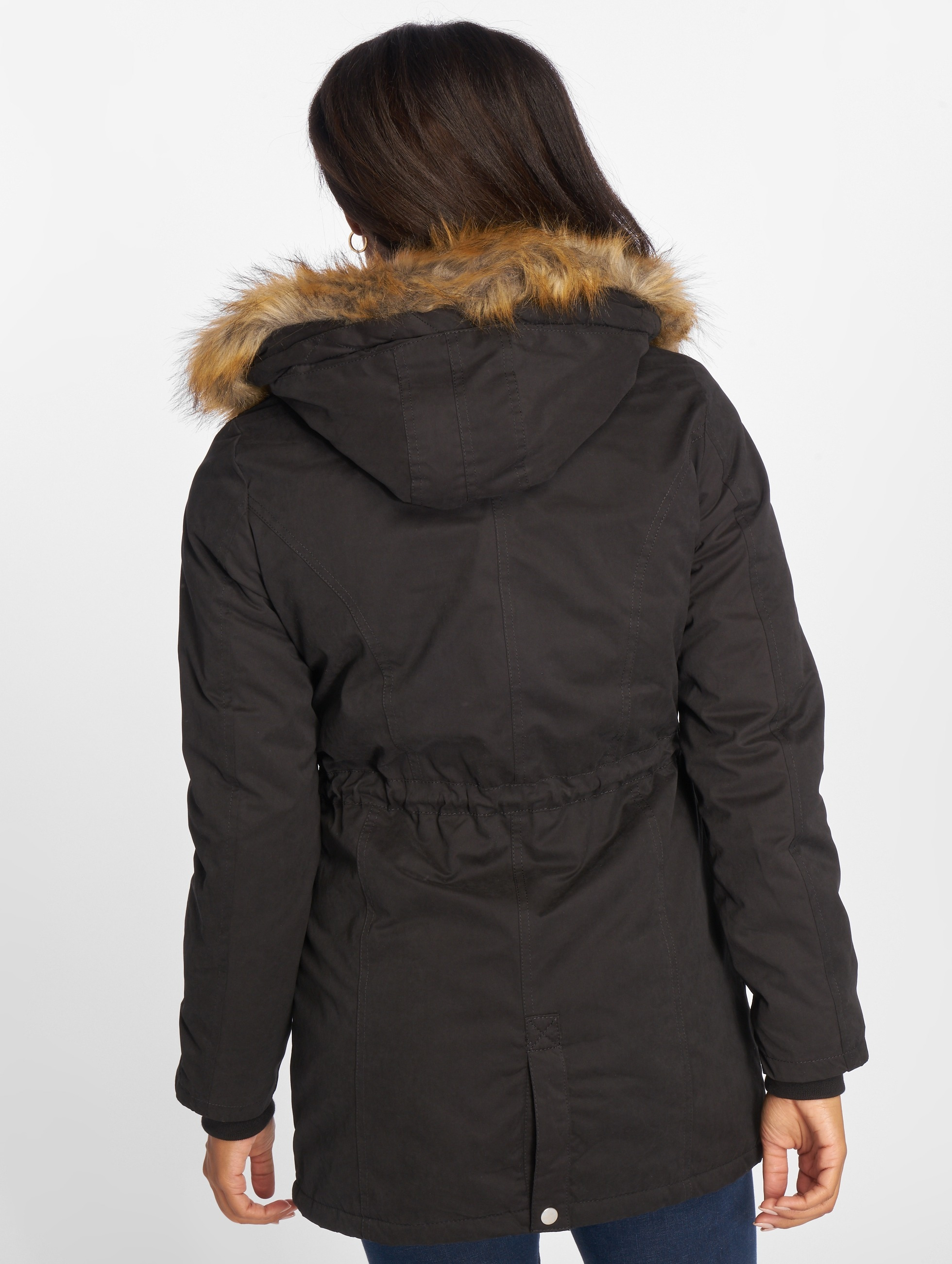 Urban-Classics-Donne-Giacche-Giacca-invernale-Ladies-Sherpa-Lined-Peached