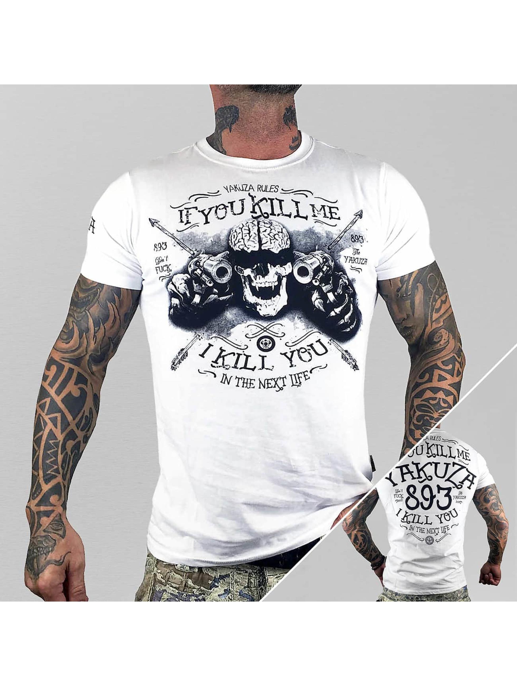 Yakuza-Uomini-Maglieria-T-shirt-Kill-Me-bianco-297540-5XL