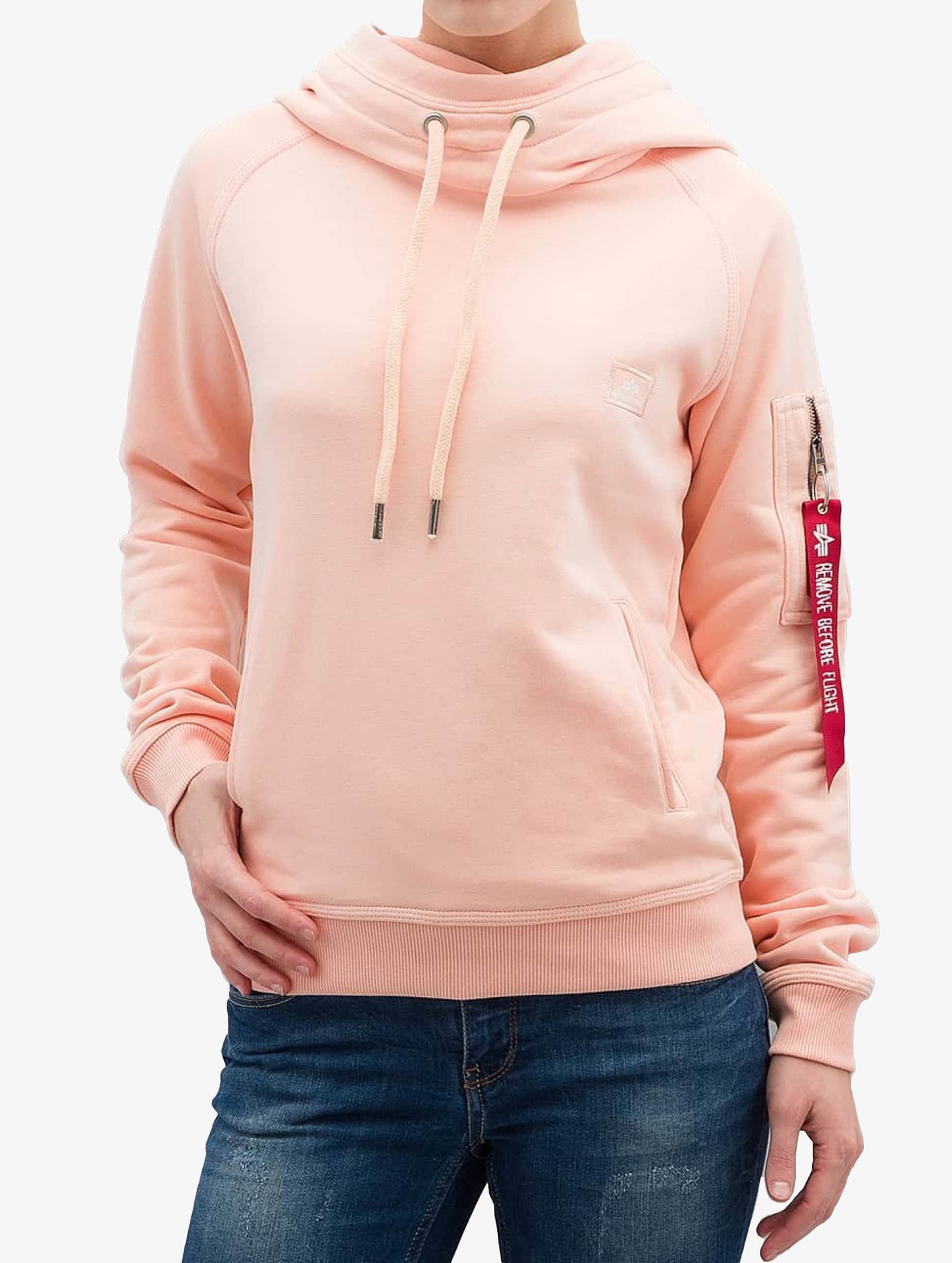 Alpha-Industries-Donne-Maglieria-Felpa-con-cappuccio-X-Fit