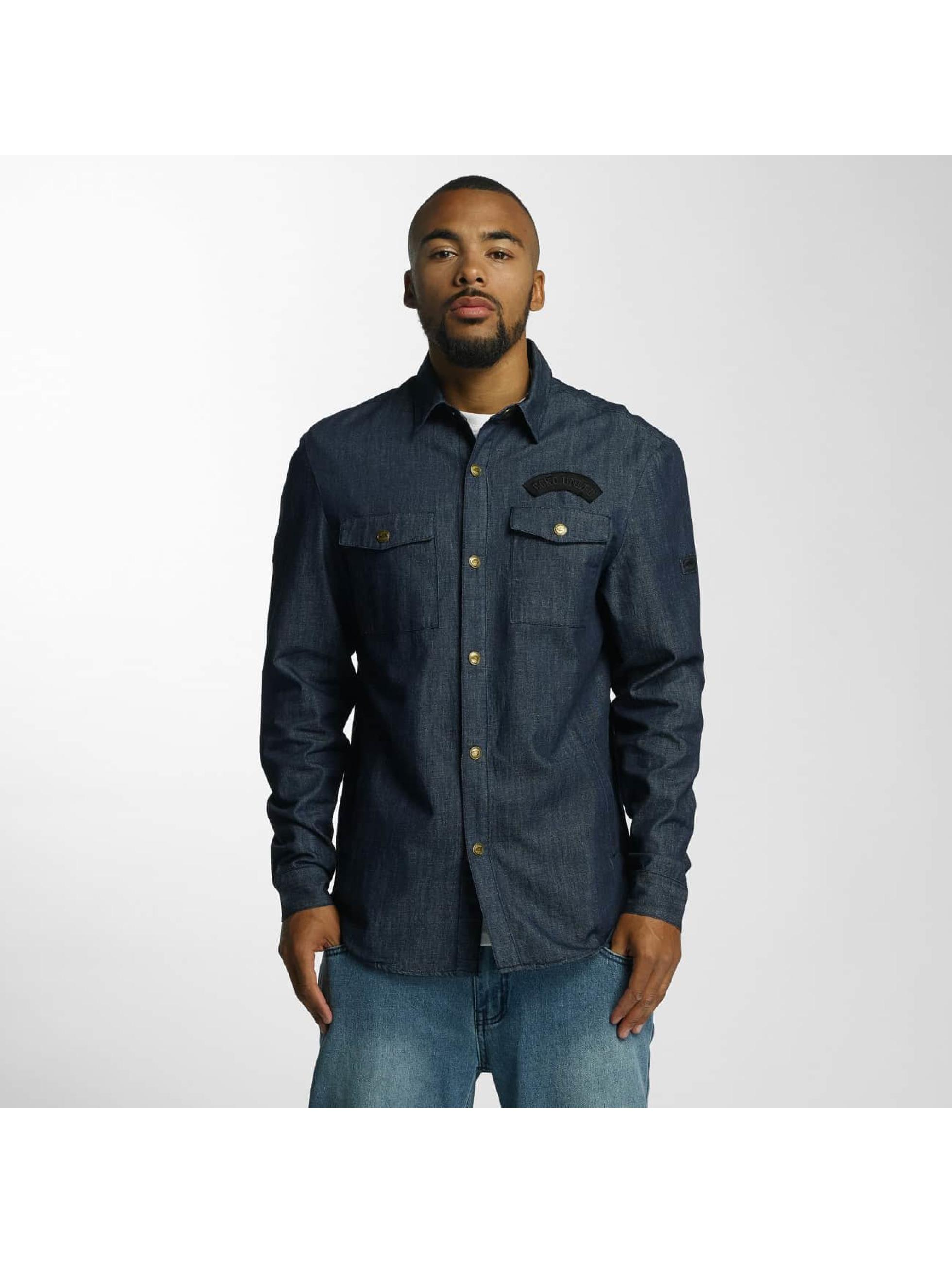 Ecko-Unltd-Uomini-Maglieria-Camicia-Jeans