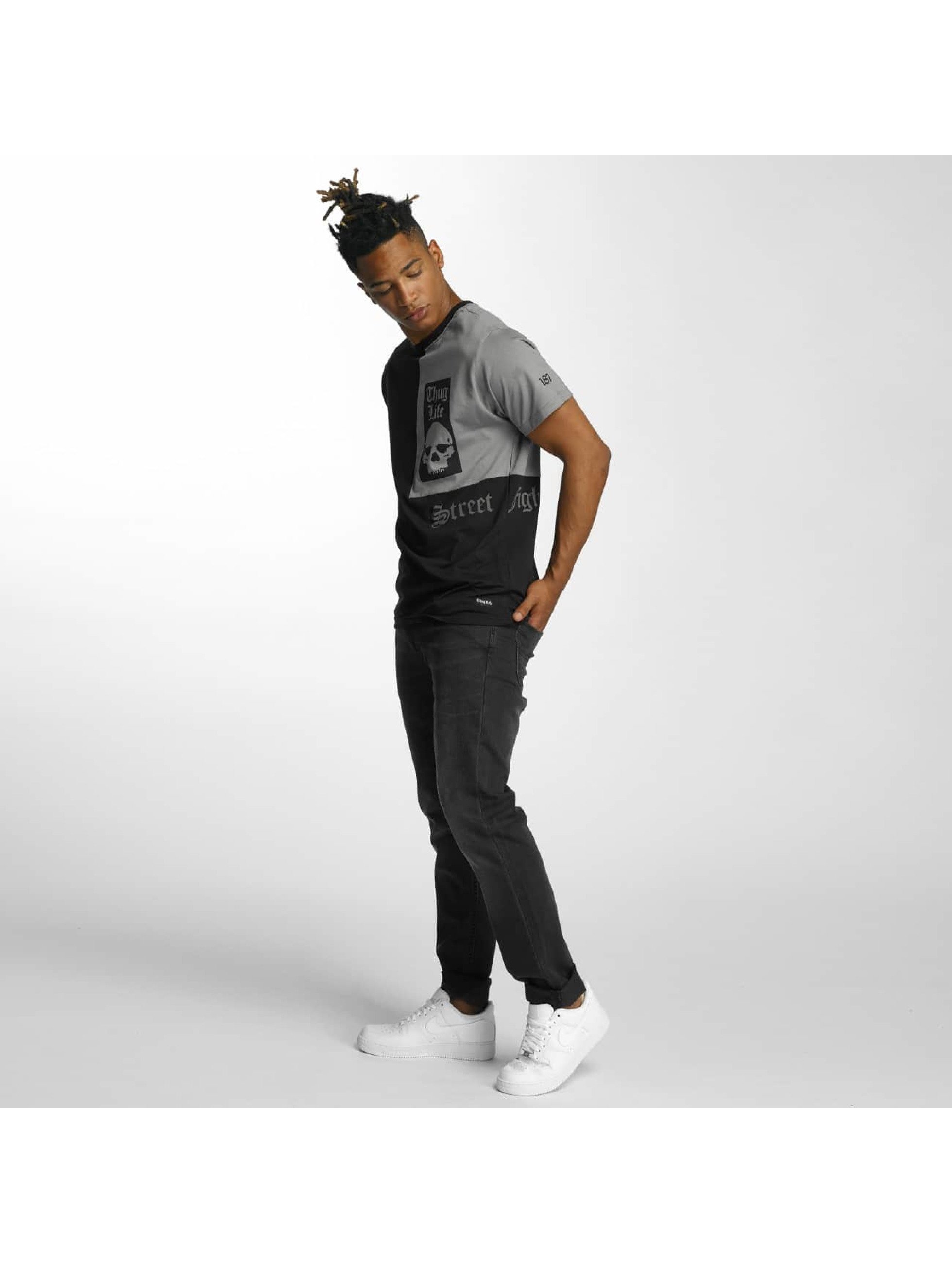 Thug-Life-Uomini-Maglieria-T-shirt-Qube