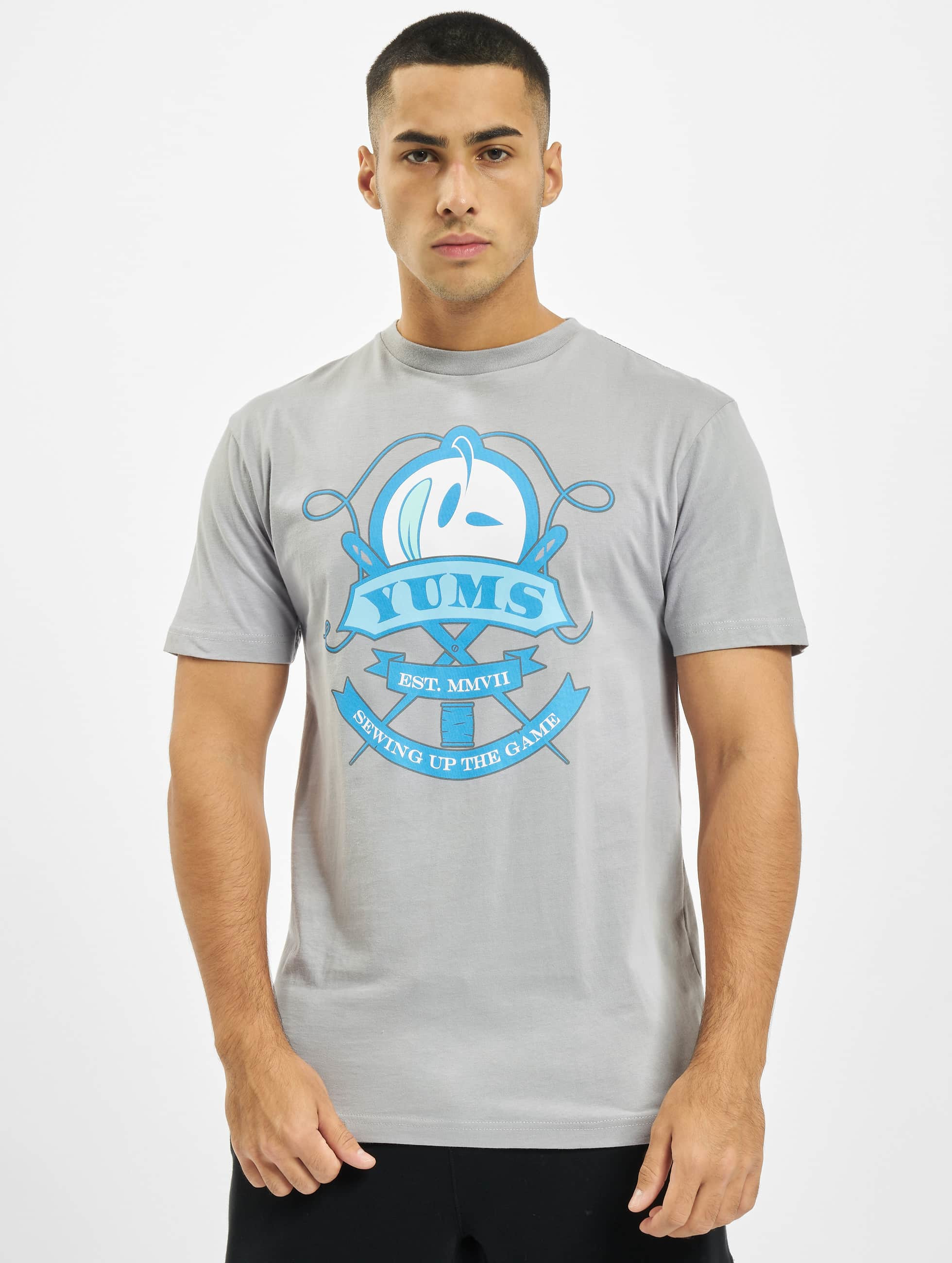 Yums-Uomini-Maglieria-T-shirt-Sew-Up-Game