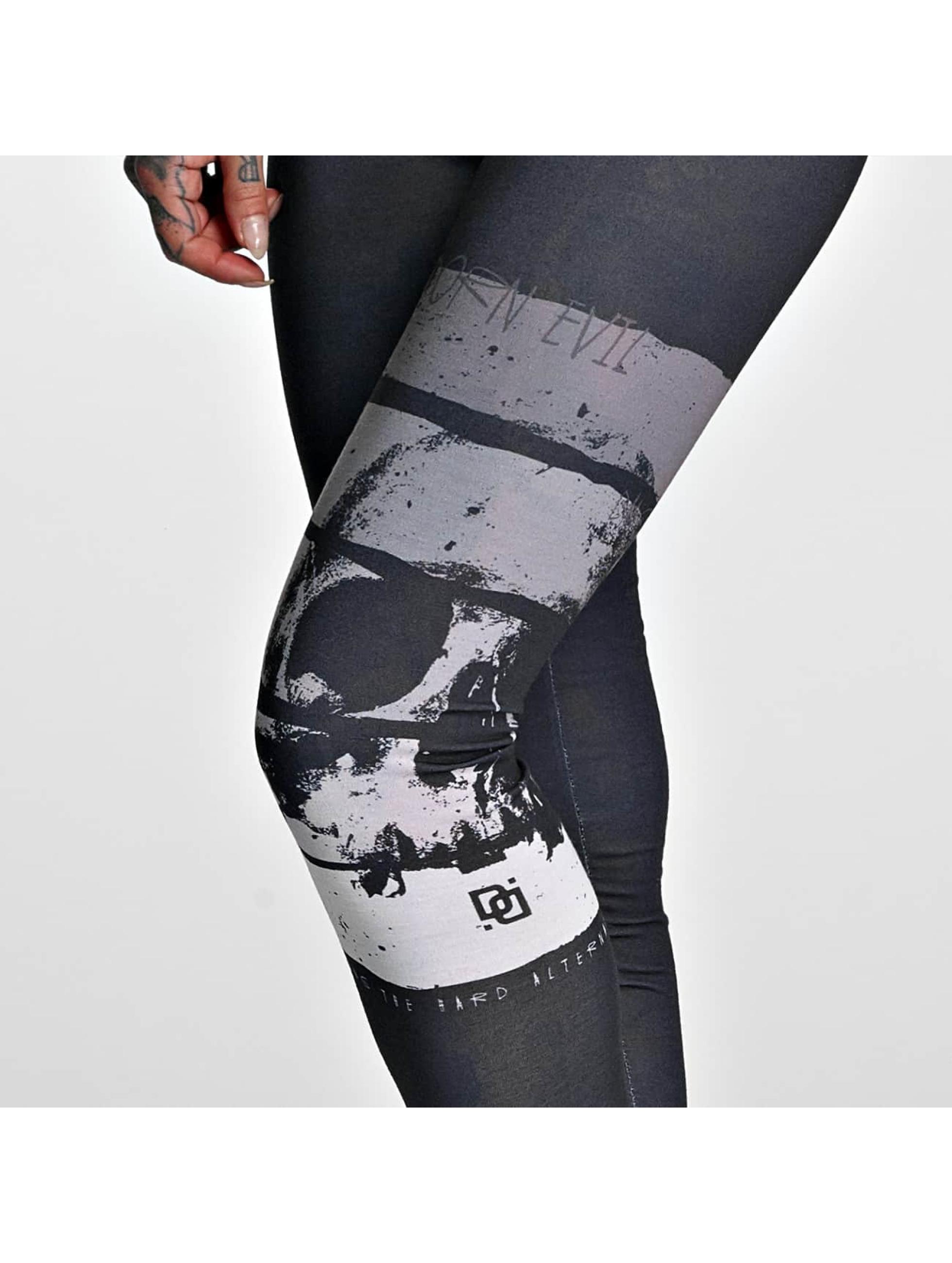 Dangerous-DNGRS-Donne-Pantaloni-Leggings-Skull