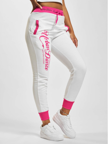 Urban Classics Dance Academy Sweat Pants White/Neon Pink