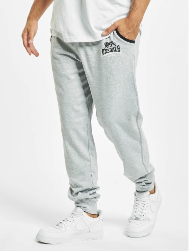 Lonsdale London Lion Tow Tones Sweat Pants Marl Grey