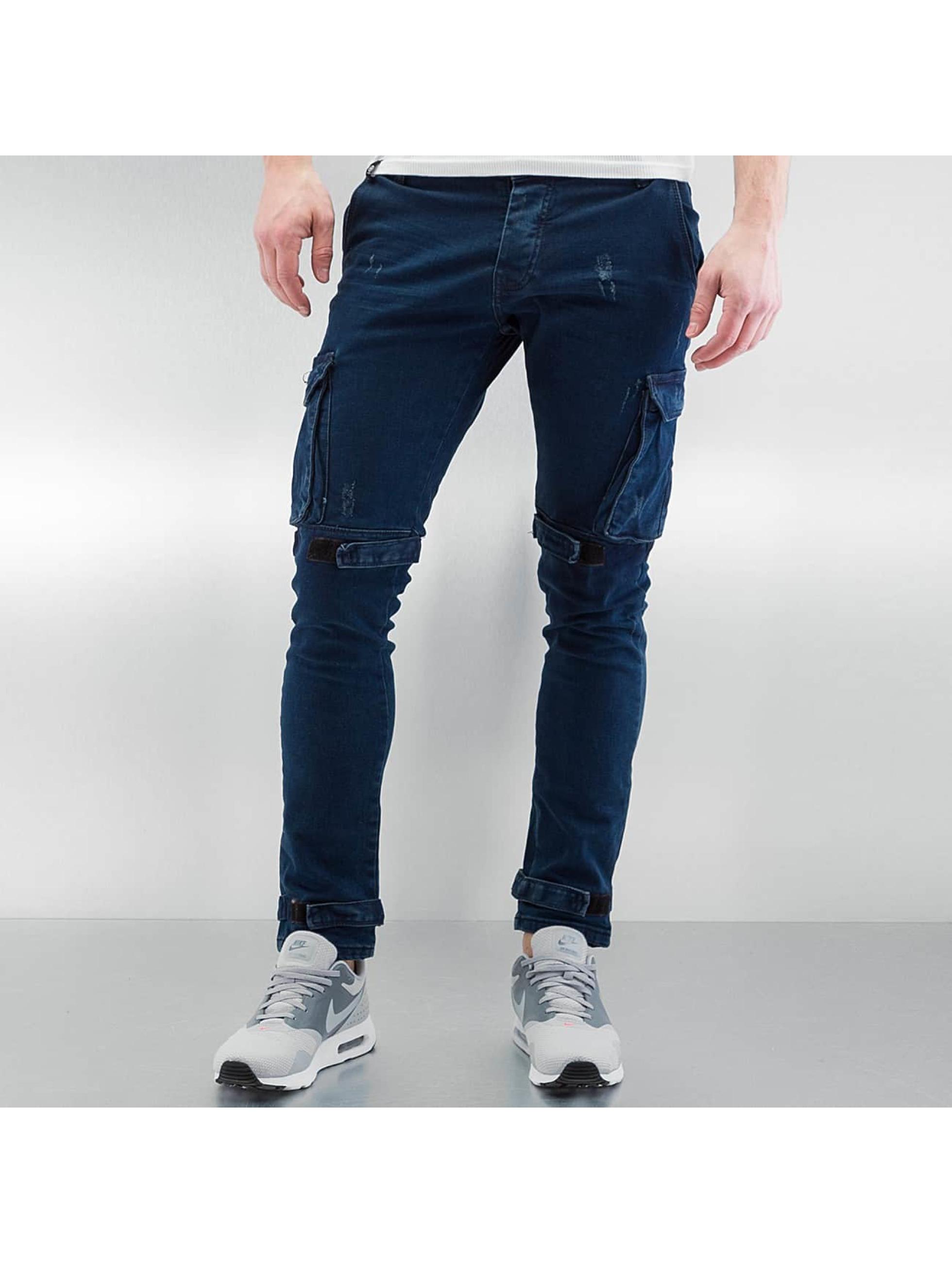 2Y Cargo pants Velcro Closure blue
