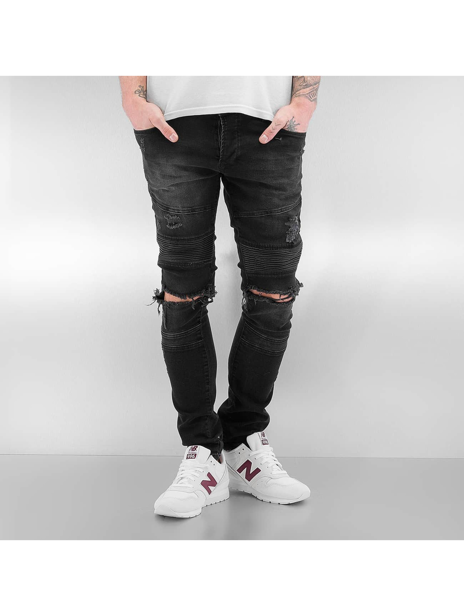 2Y Skinny Jeans Destroyed black