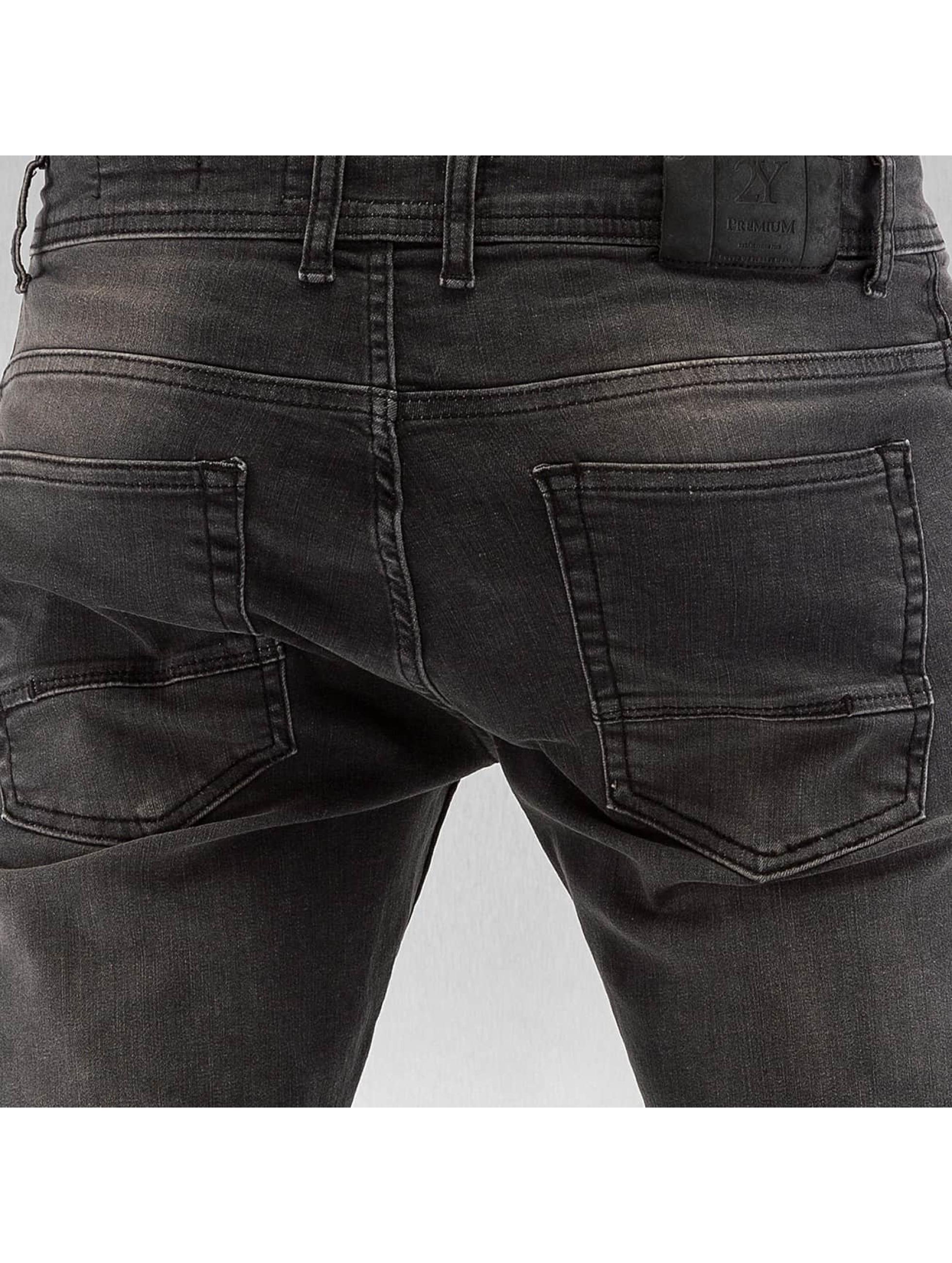 2Y Slim Fit Jeans Crawley gray