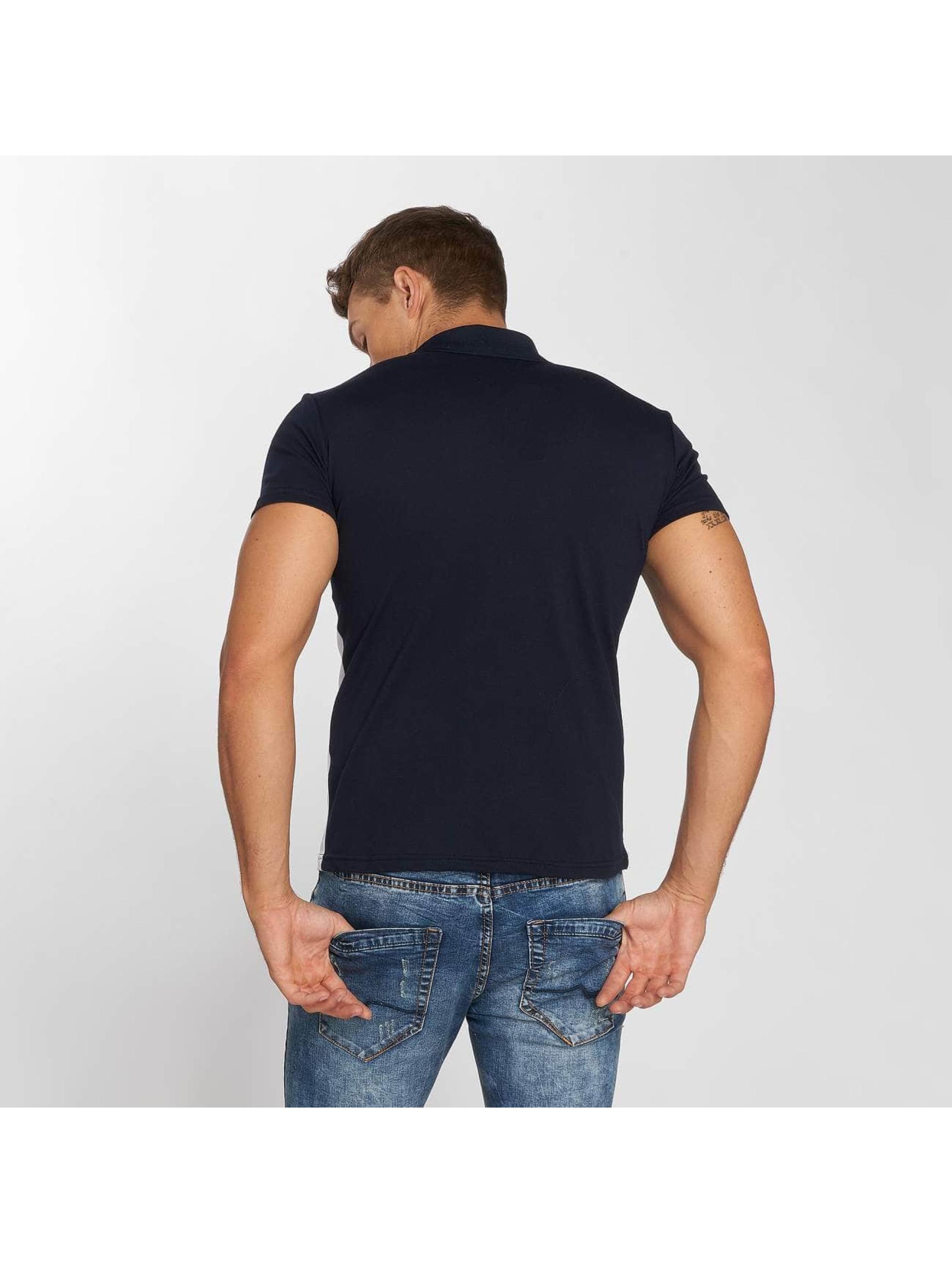 Aarhon Poloshirt Diagonal blue