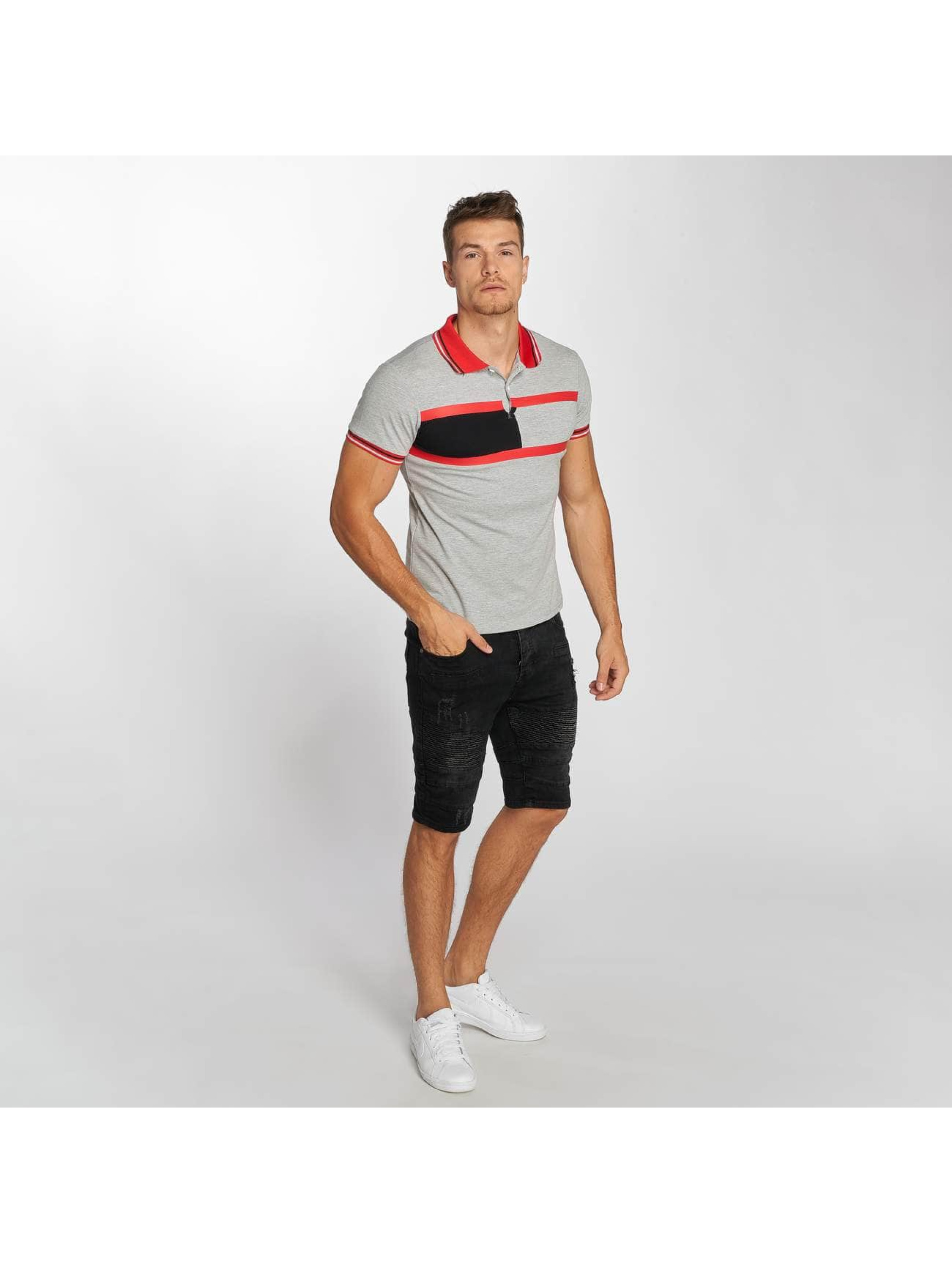 Aarhon Poloshirt Stripes gray