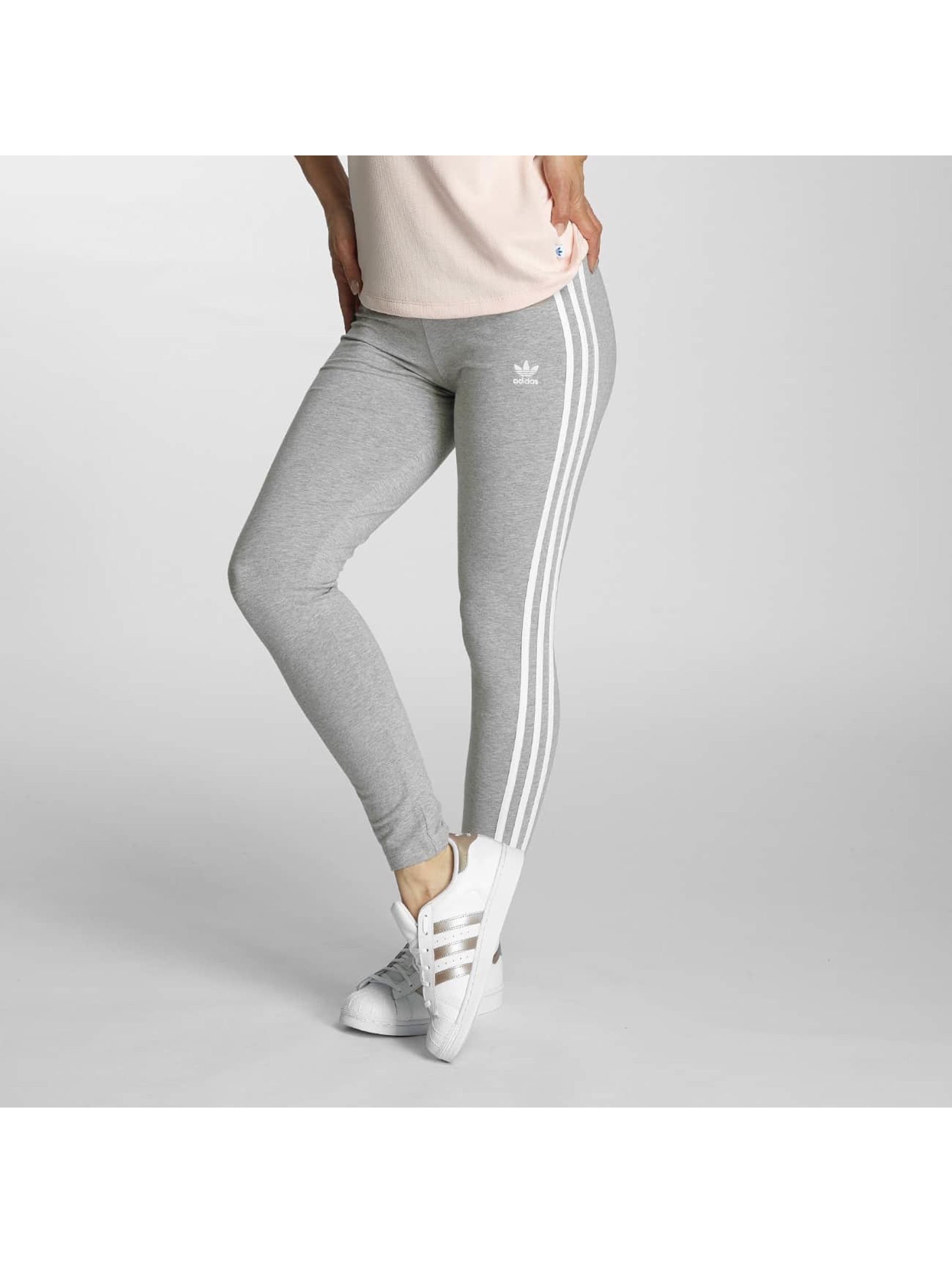 adidas damen legging 3 stripes in grau 369124
