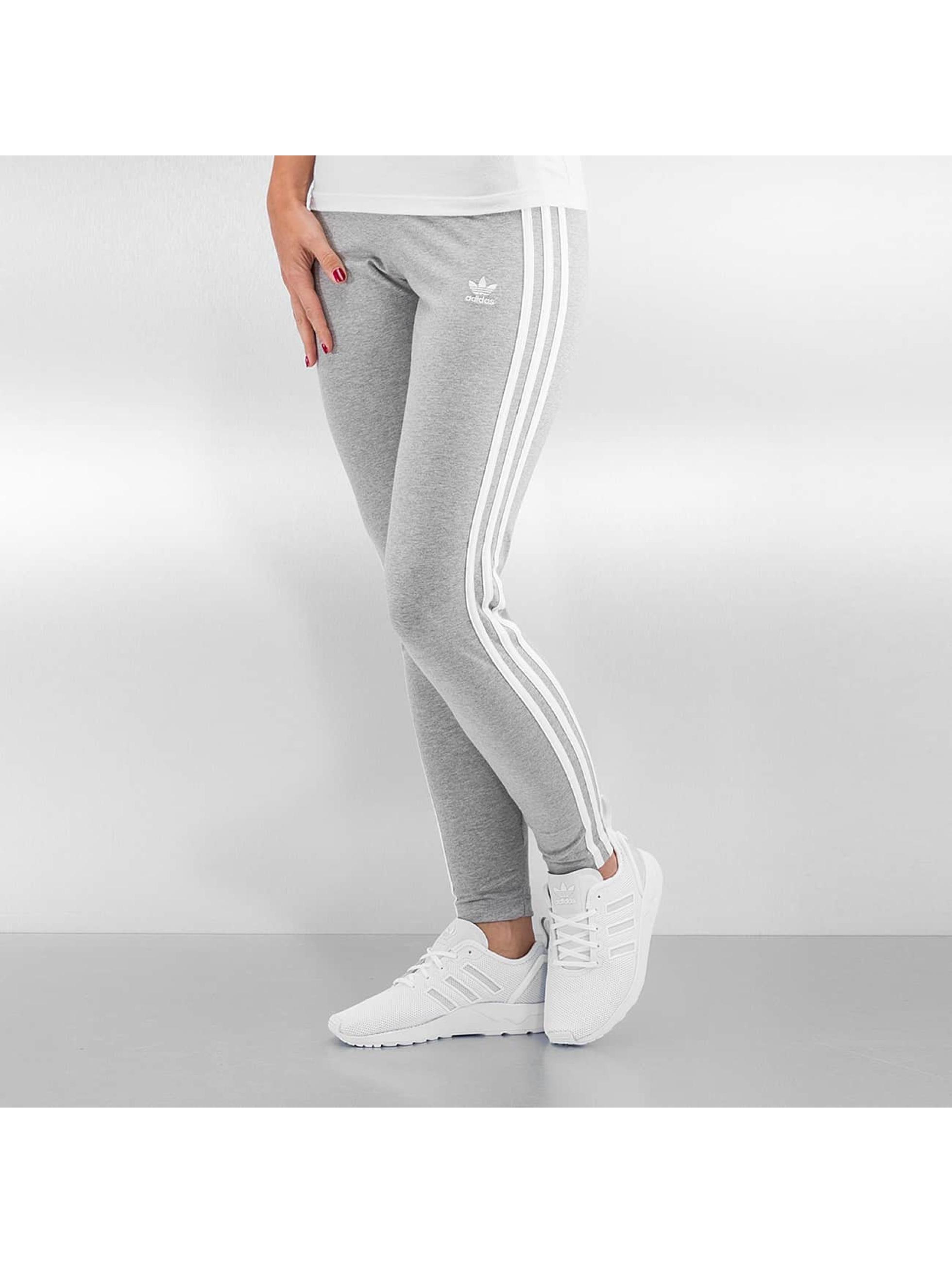 adidas pantalon leggings 3 stripes en gris 286522. Black Bedroom Furniture Sets. Home Design Ideas