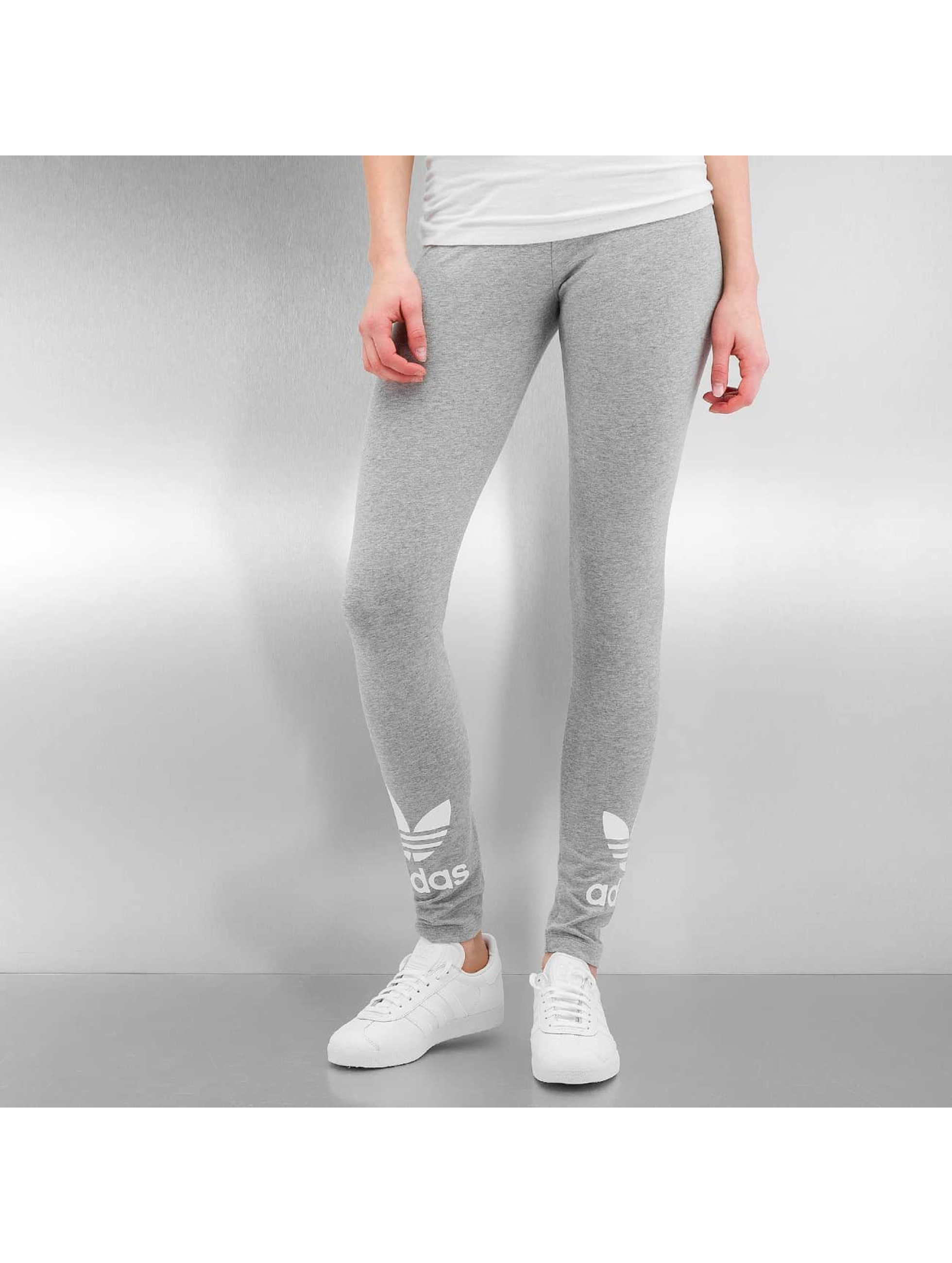 adidas pantalon leggings trefoil en gris 302621. Black Bedroom Furniture Sets. Home Design Ideas