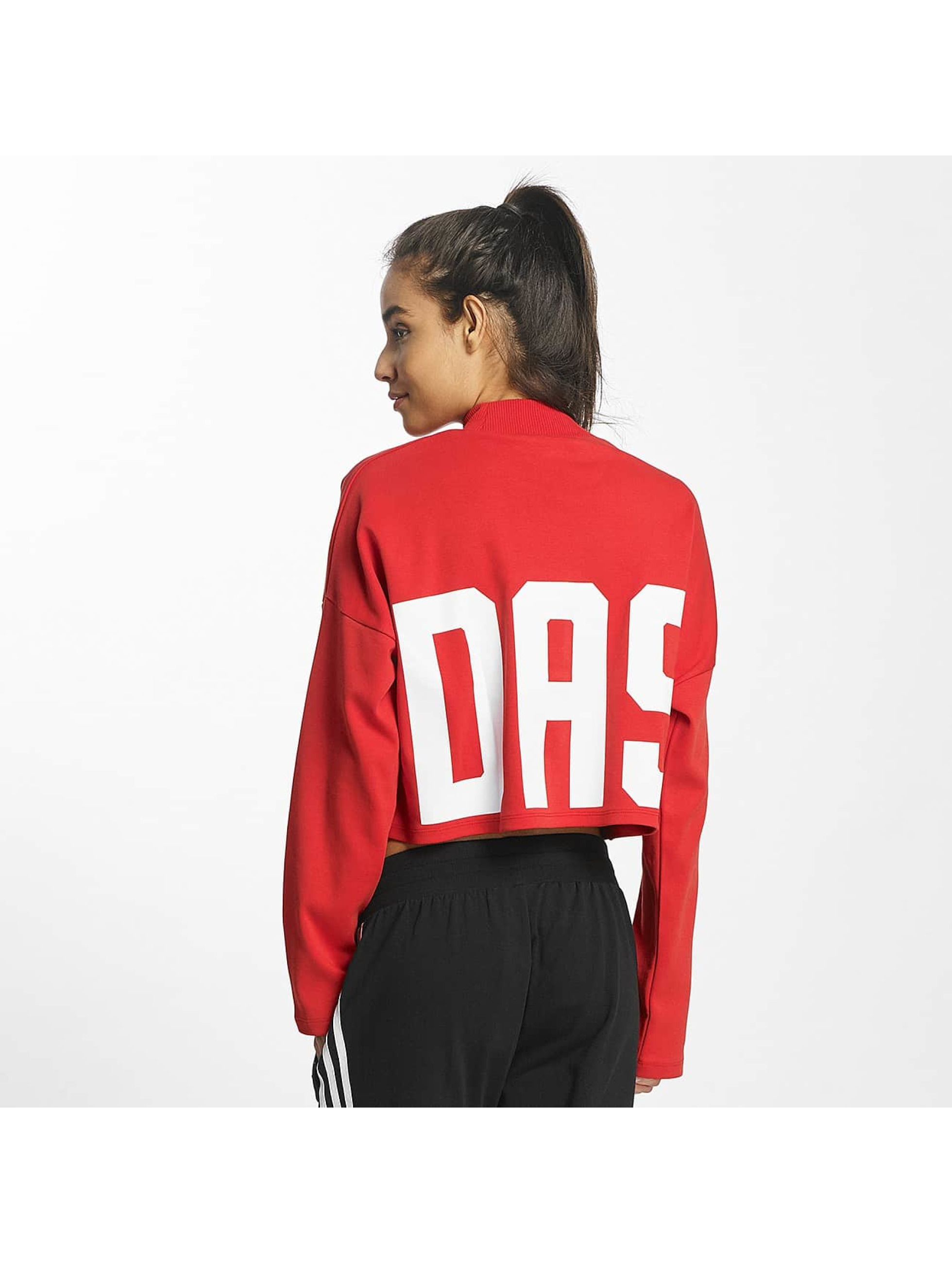 adidas originals Pullover Croppped High Neck red