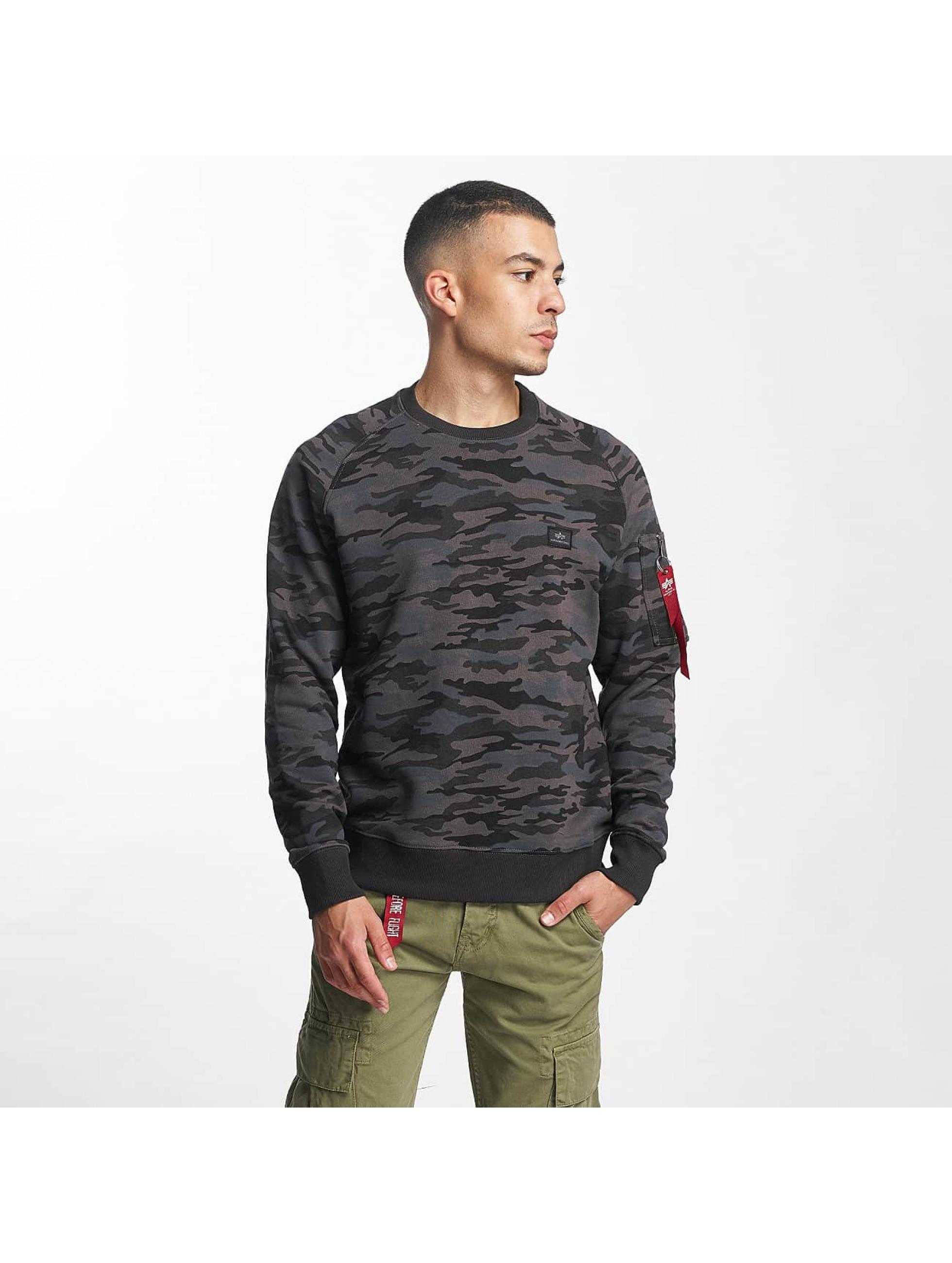 alpha industries herren pullover x fit in camouflage 376217. Black Bedroom Furniture Sets. Home Design Ideas