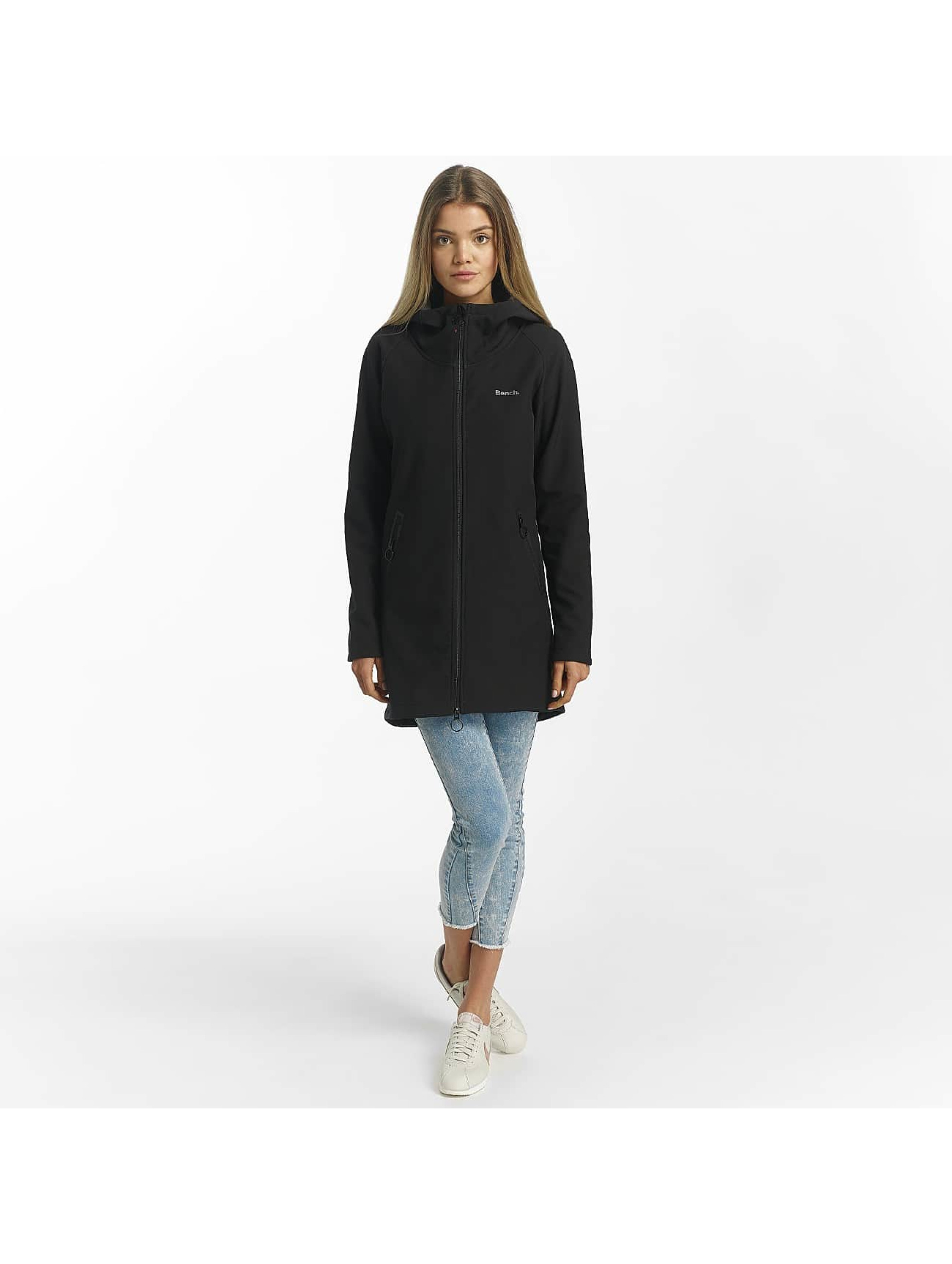 Bench Lightweight Jacket Slim Longline Bonded black