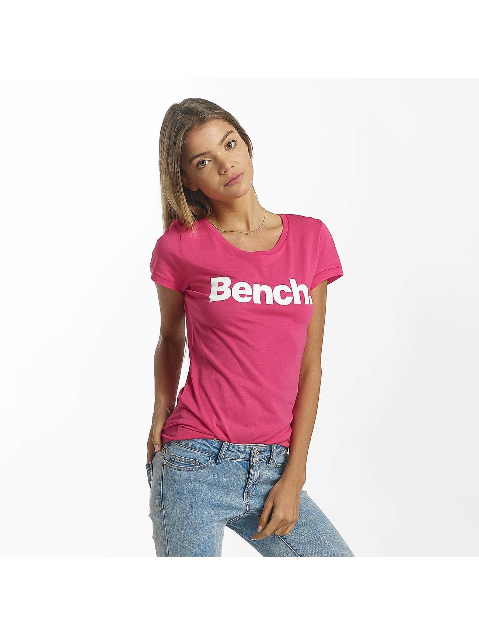Bench T-Shirt Slim Logo pink