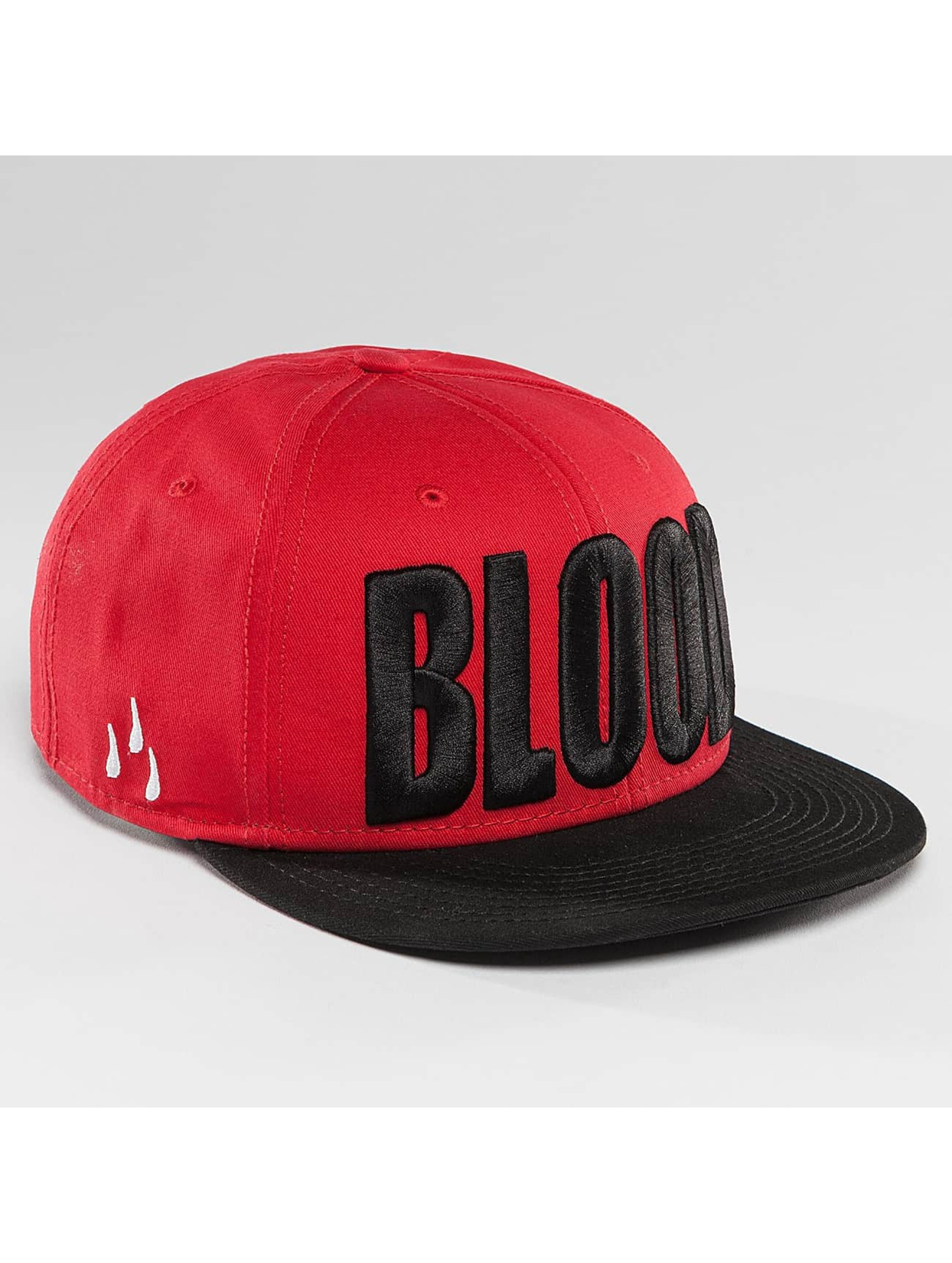 Blood In Blood Out Snapback Cap Brandlogo red