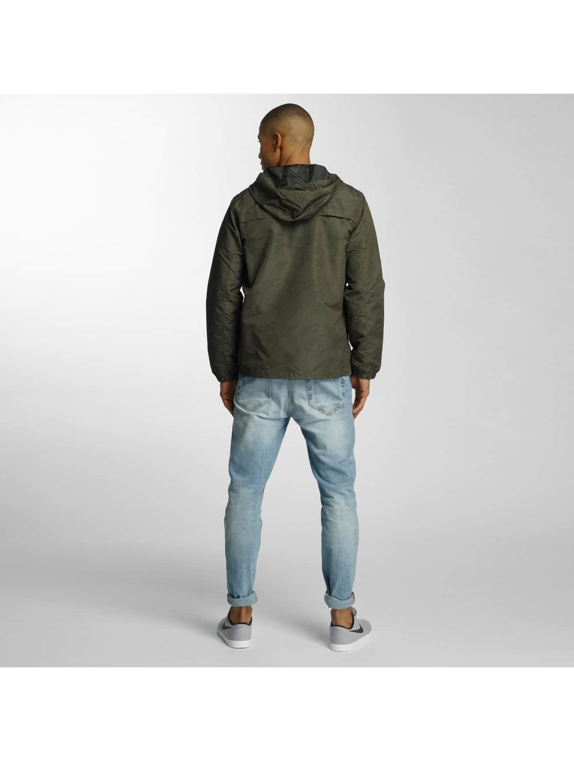 Brave Soul Lightweight Jacket Print Camouflage Overhead khaki