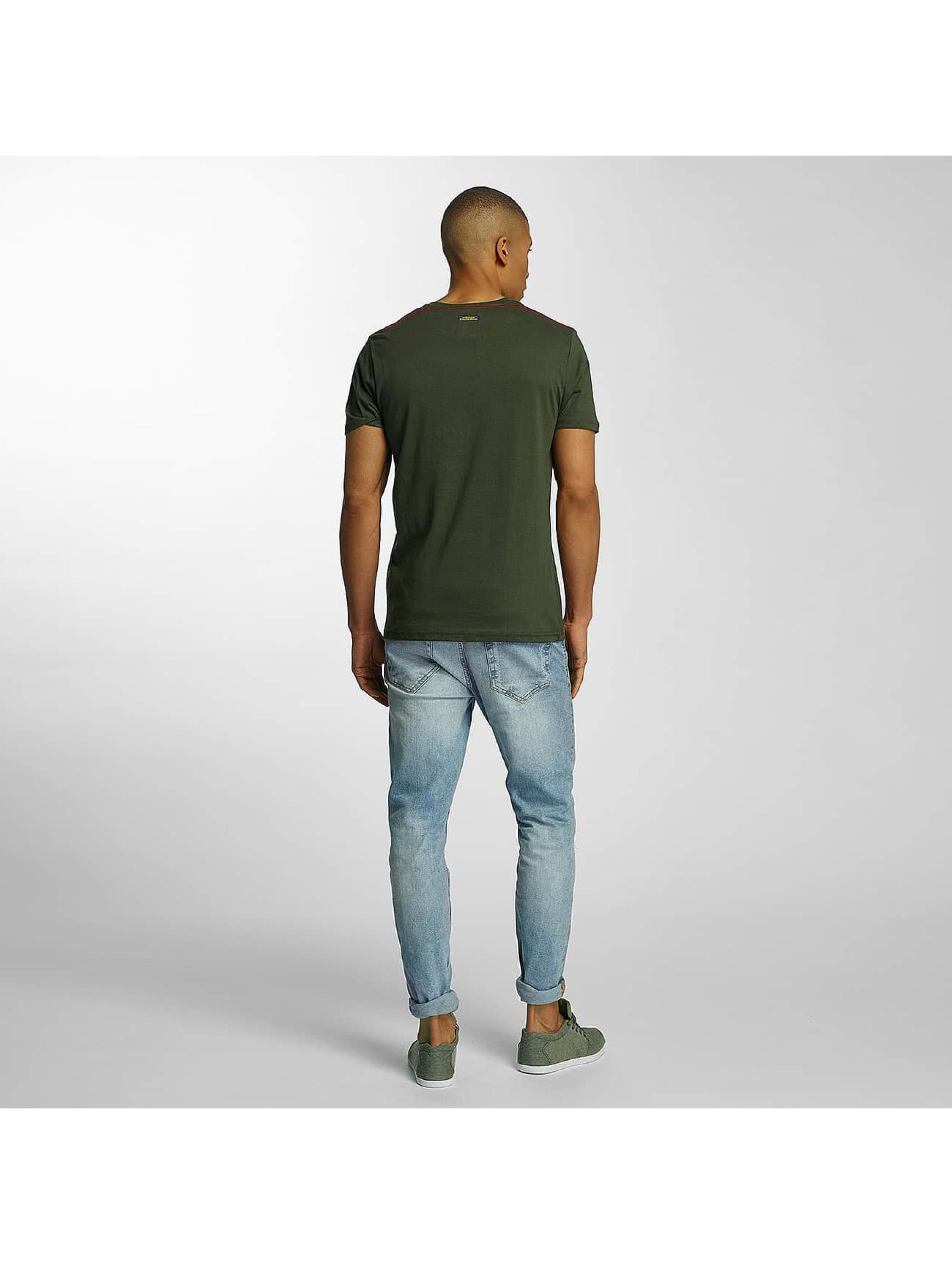 Brave Soul T-Shirt Crew Neck Set khaki