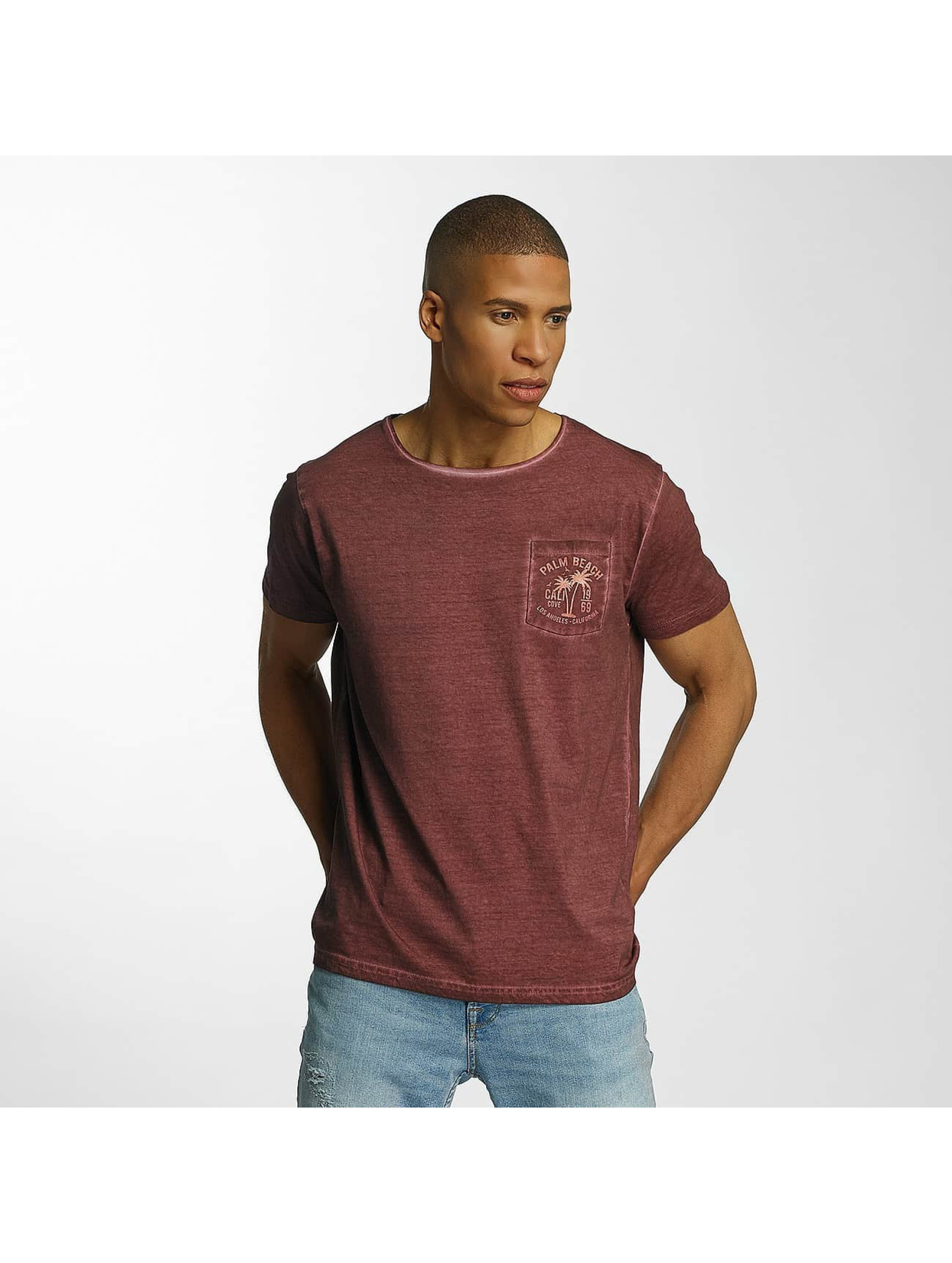Brave Soul T-Shirt Crew Neck red