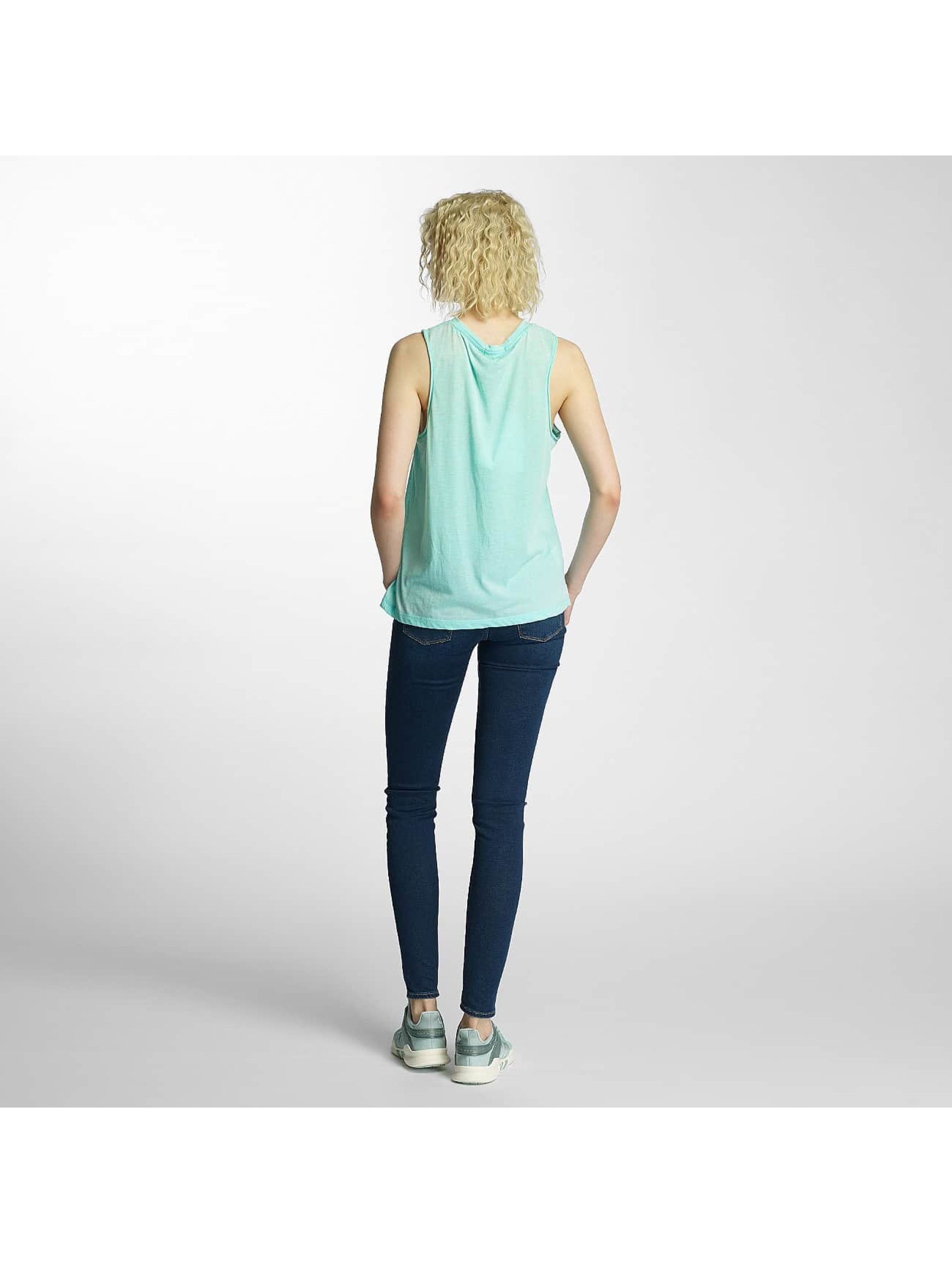 Brave Soul Tank Tops Printed Burn Out green