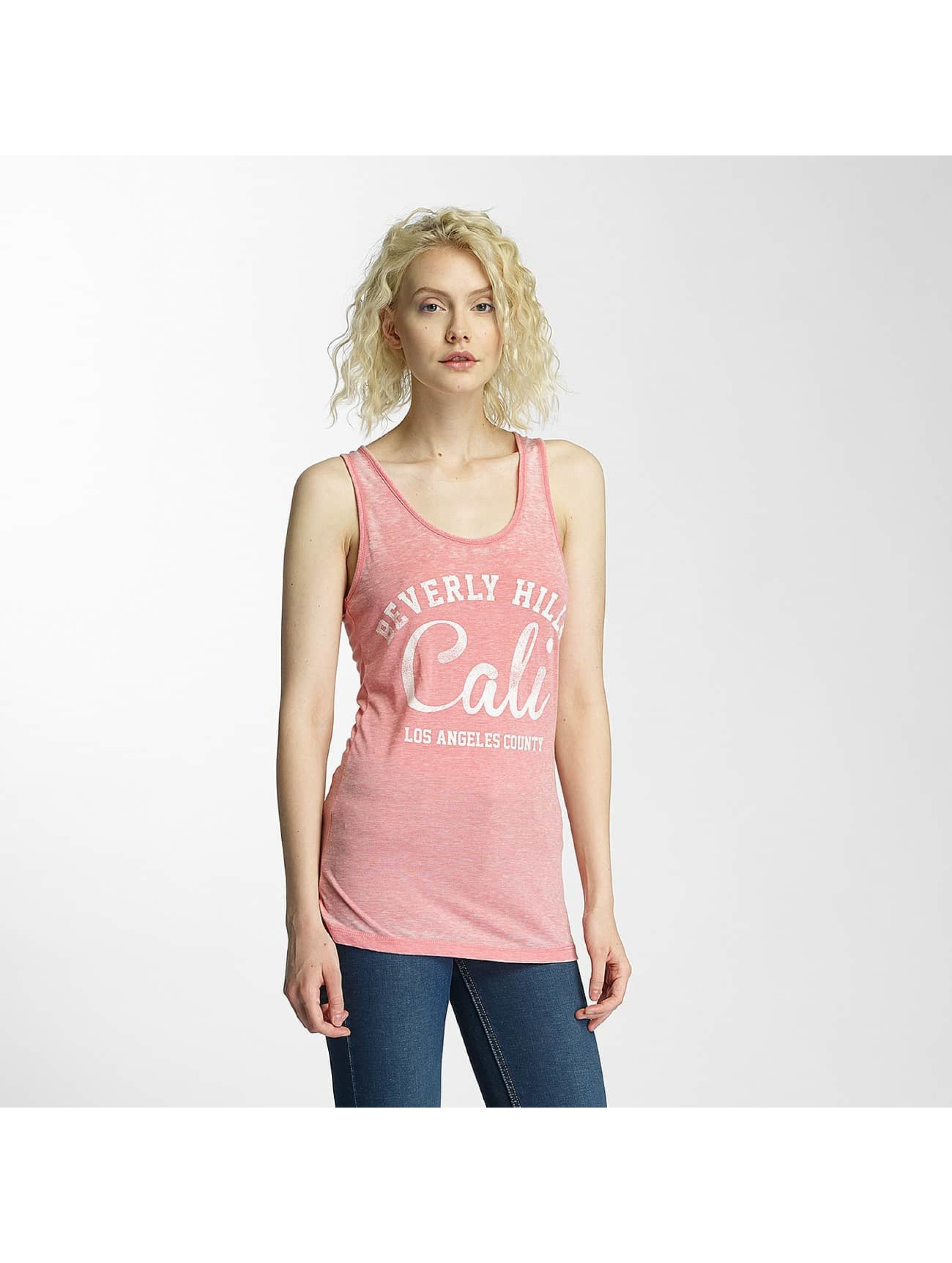 Brave Soul Tank Tops Burn Out rose