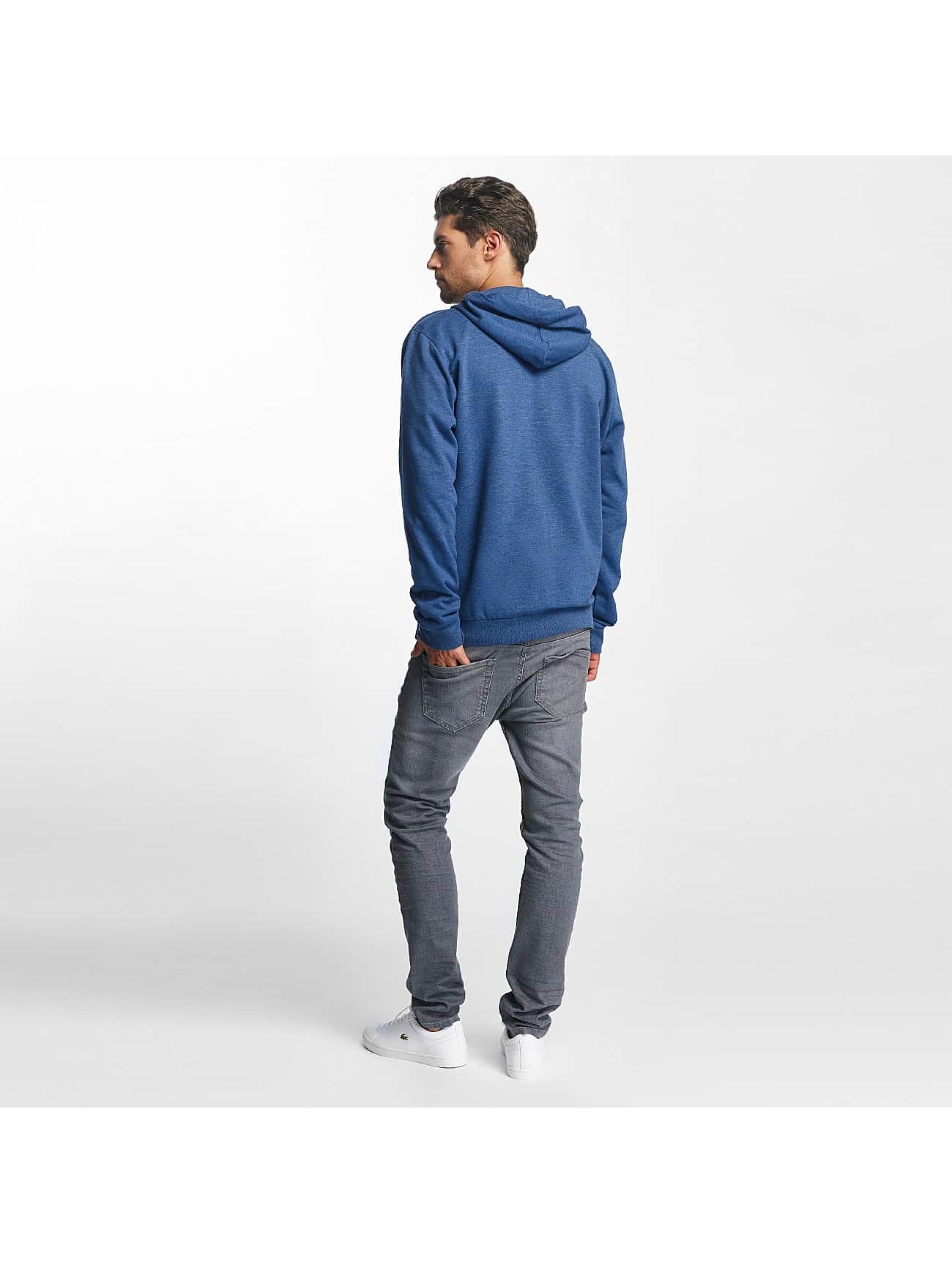 Brave Soul Zip Hoodie Through Jumper blue