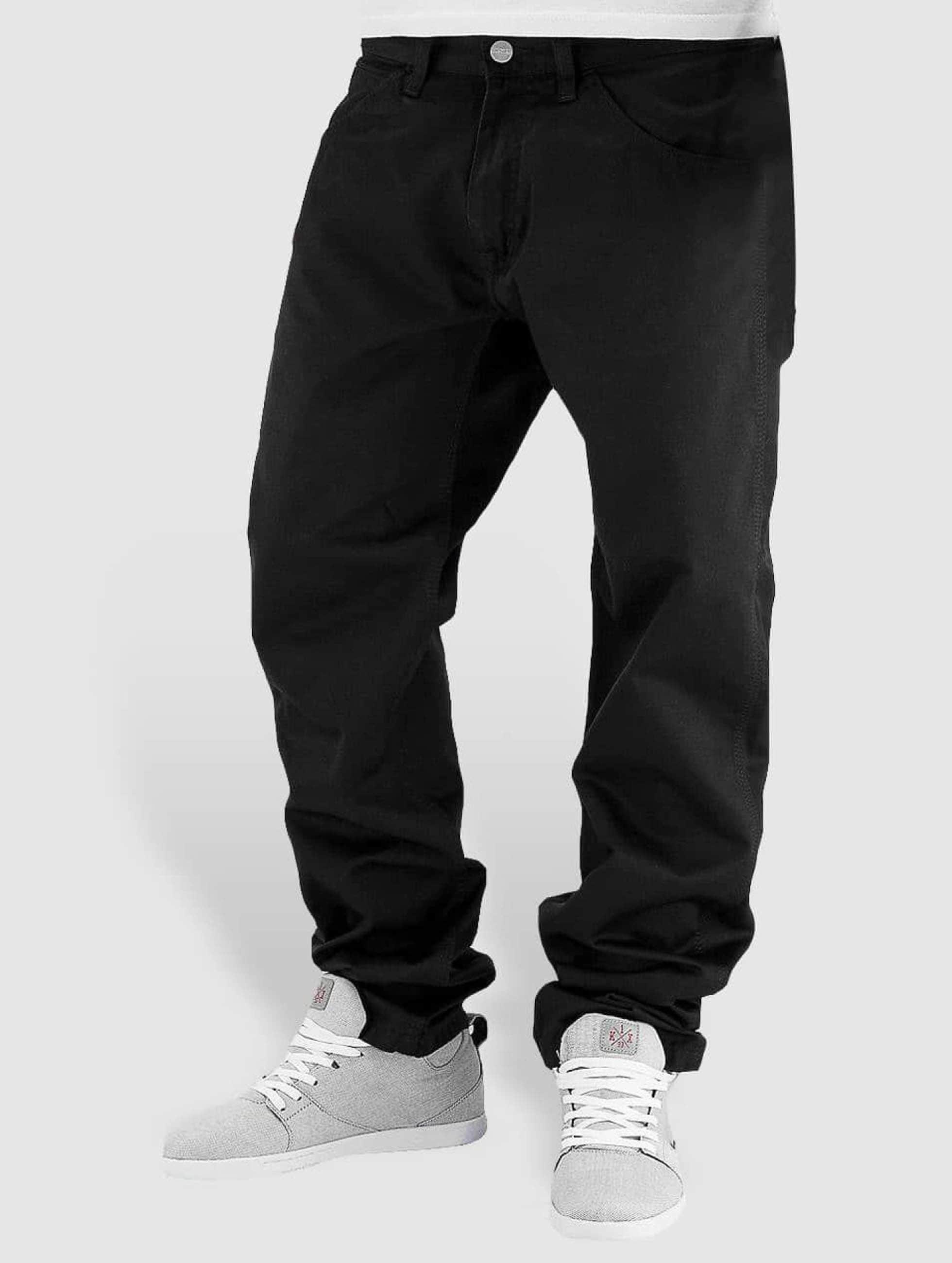 carhartt wip herren straight fit jeans cortez in schwarz. Black Bedroom Furniture Sets. Home Design Ideas