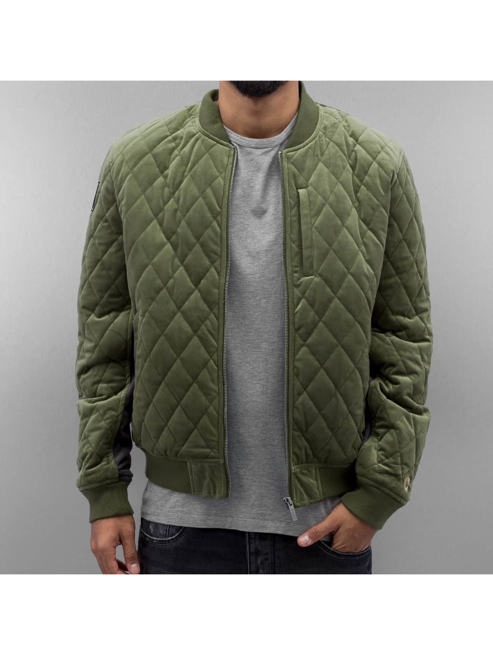 Chabos Iivii Bomberjacke Quilted In Olive 316462