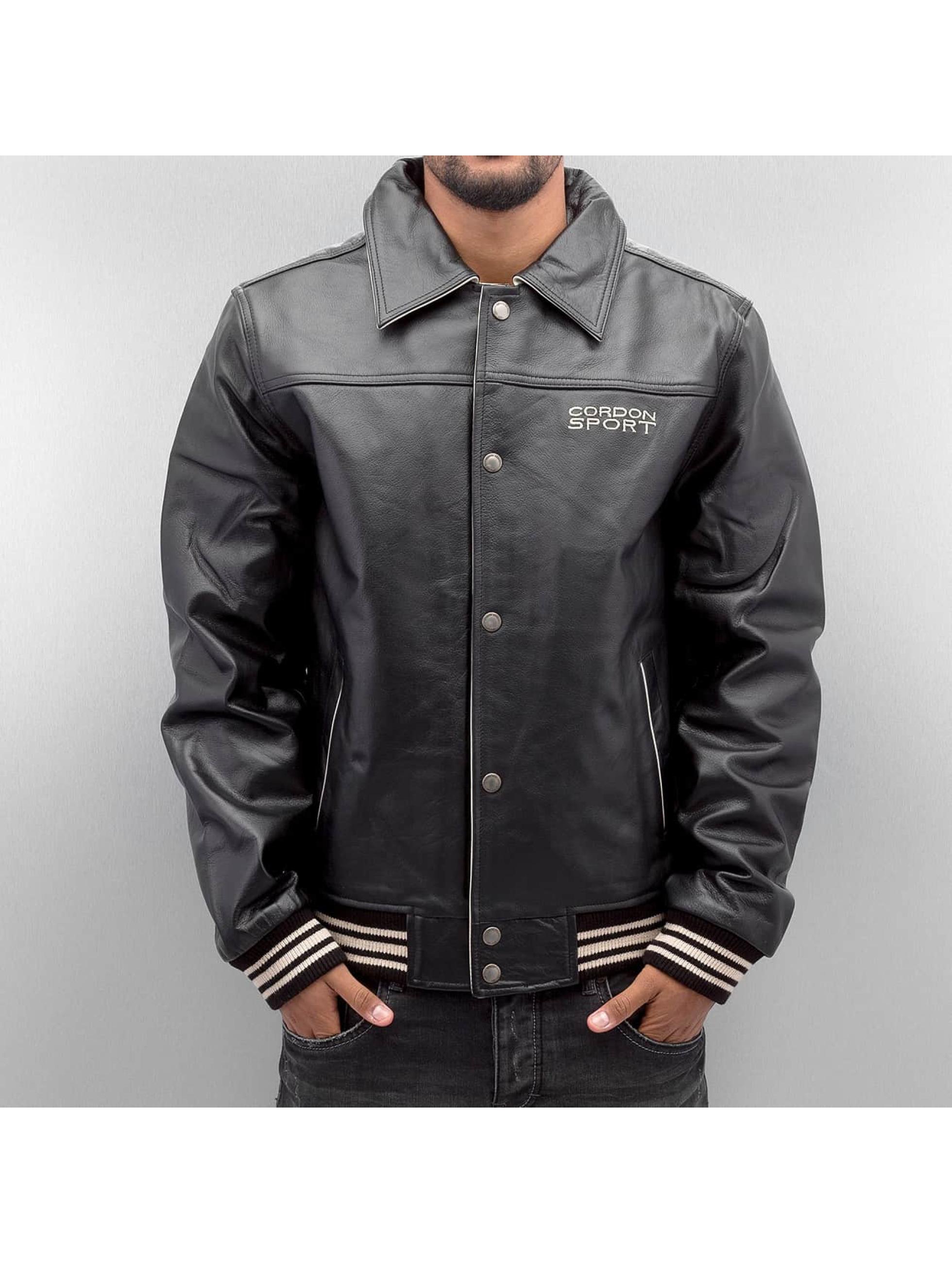 Cordon Leather Jacket Victoria black