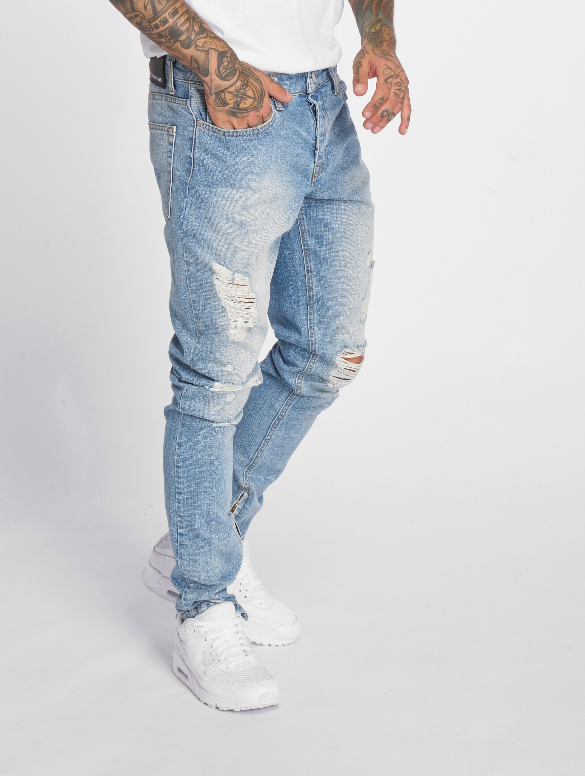 Criminal Damage Skinny Jeans Uzi blue