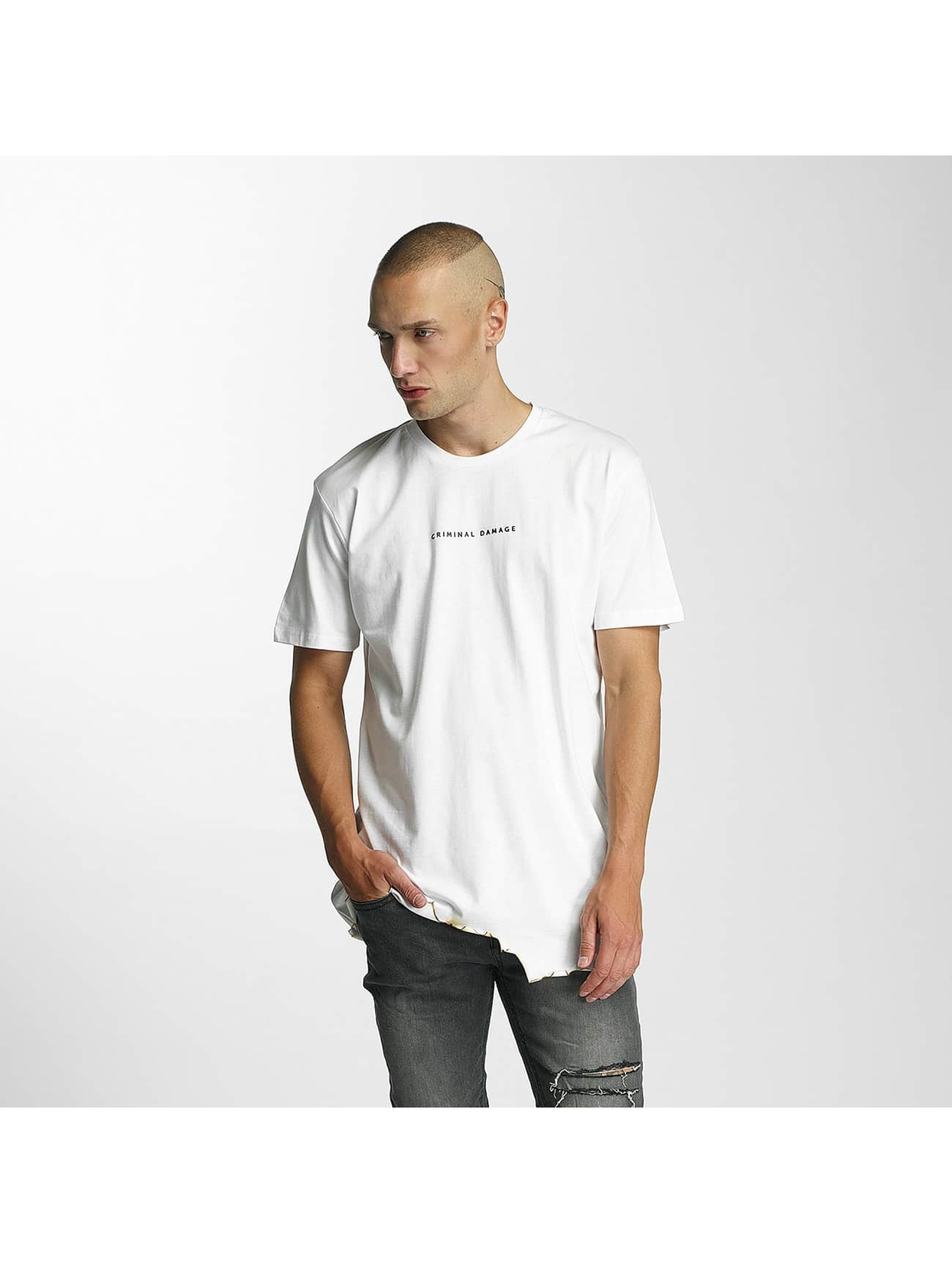 Criminal Damage T-Shirt Burnt white
