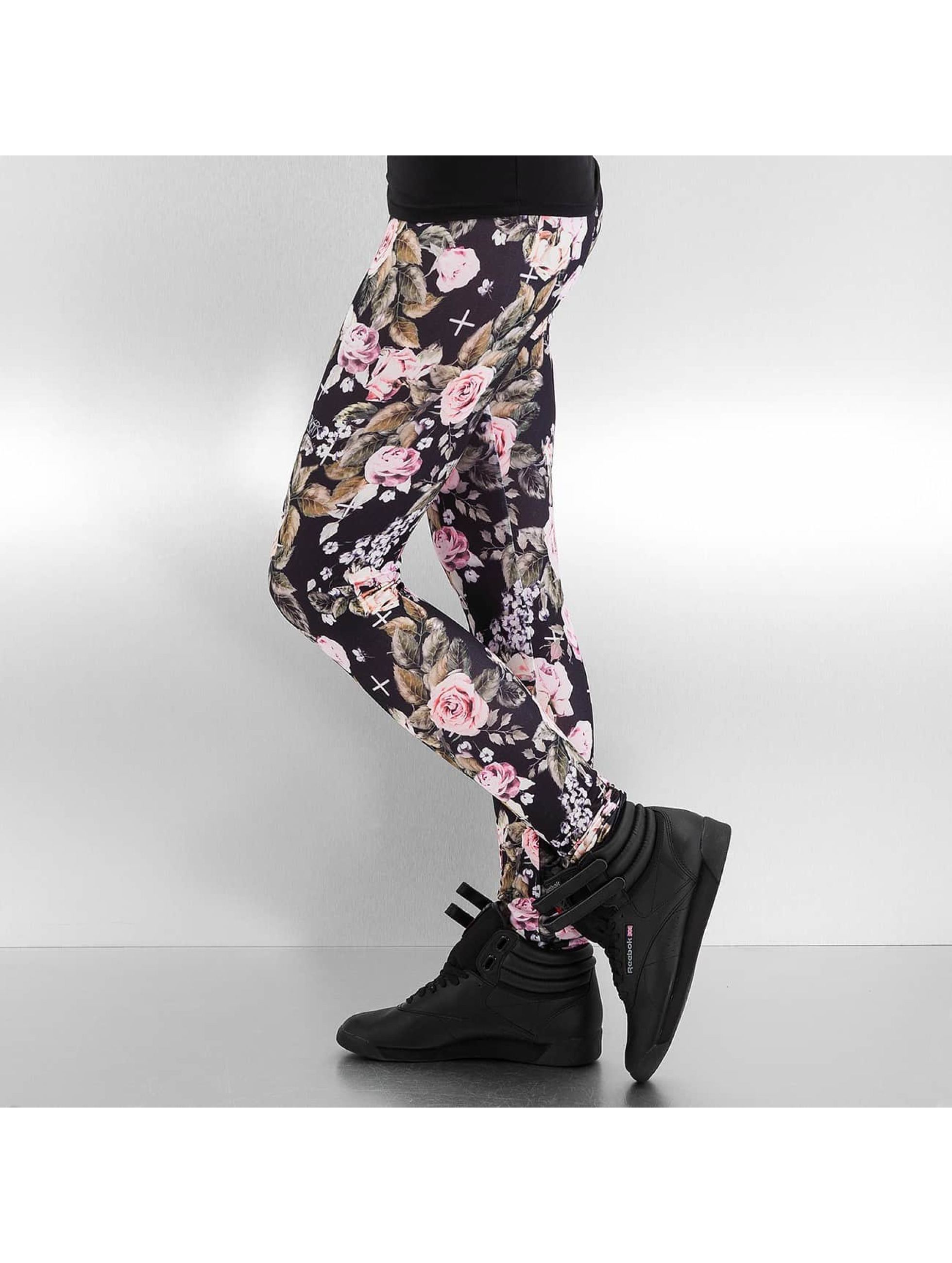 Dangerous DNGRS Leggings/Treggings Flower black