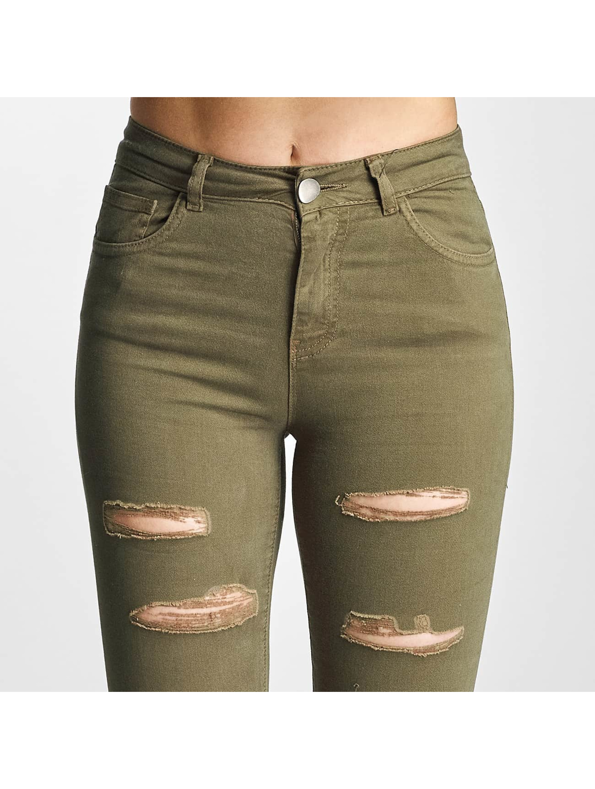 DEF Skinny Jeans Cut olive