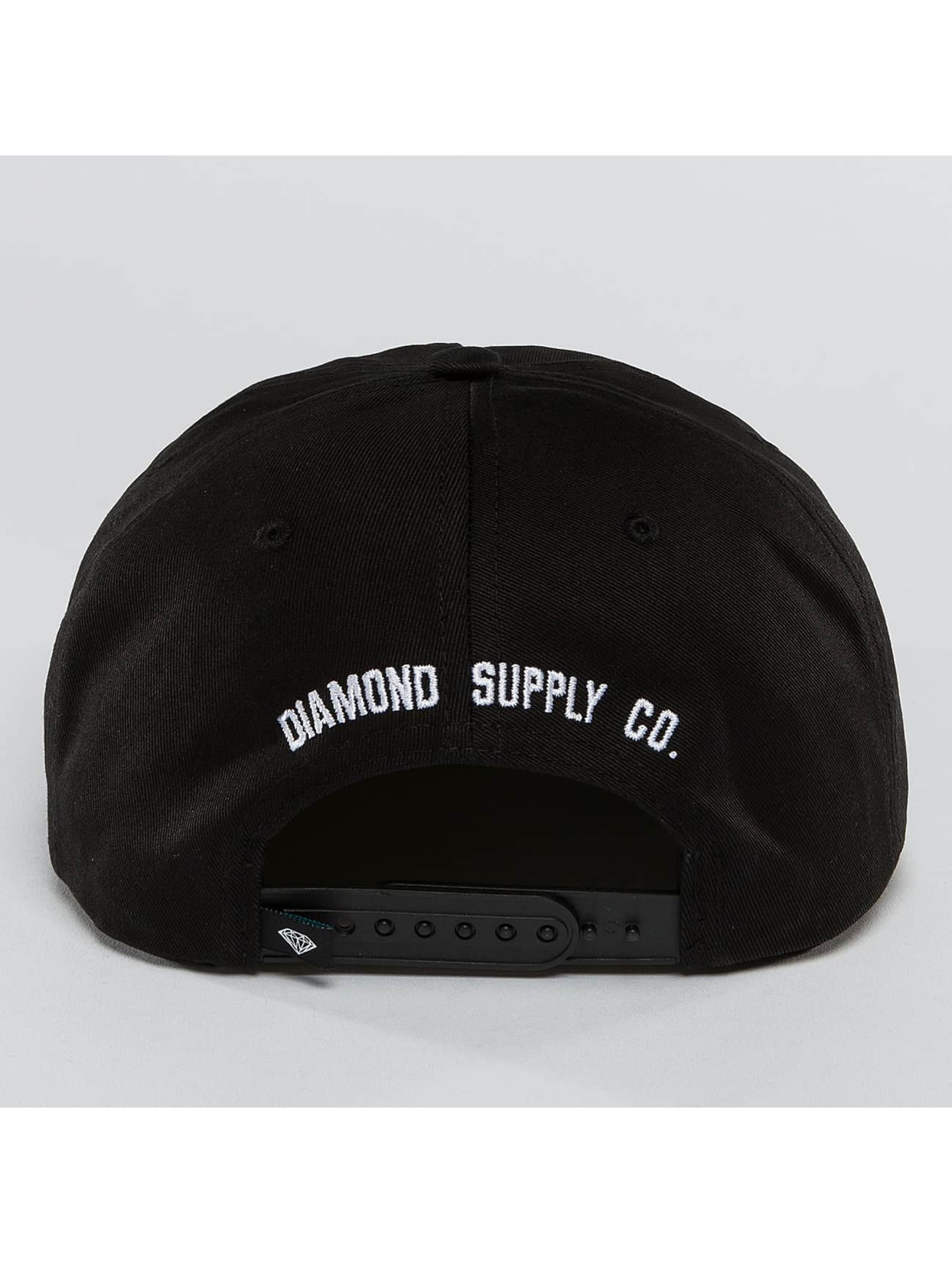 Diamond Snapback Cap I Hate School black