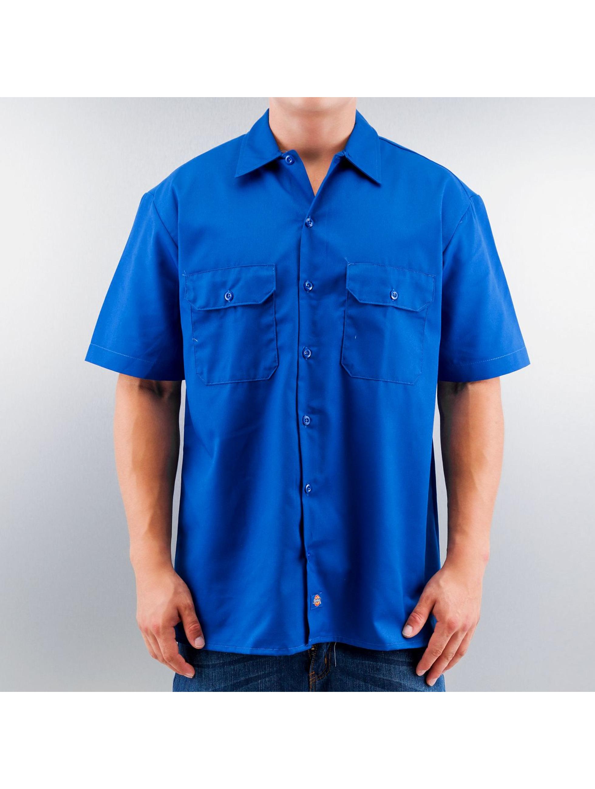 dickies hemd shorts sleeve work in blau 50134. Black Bedroom Furniture Sets. Home Design Ideas