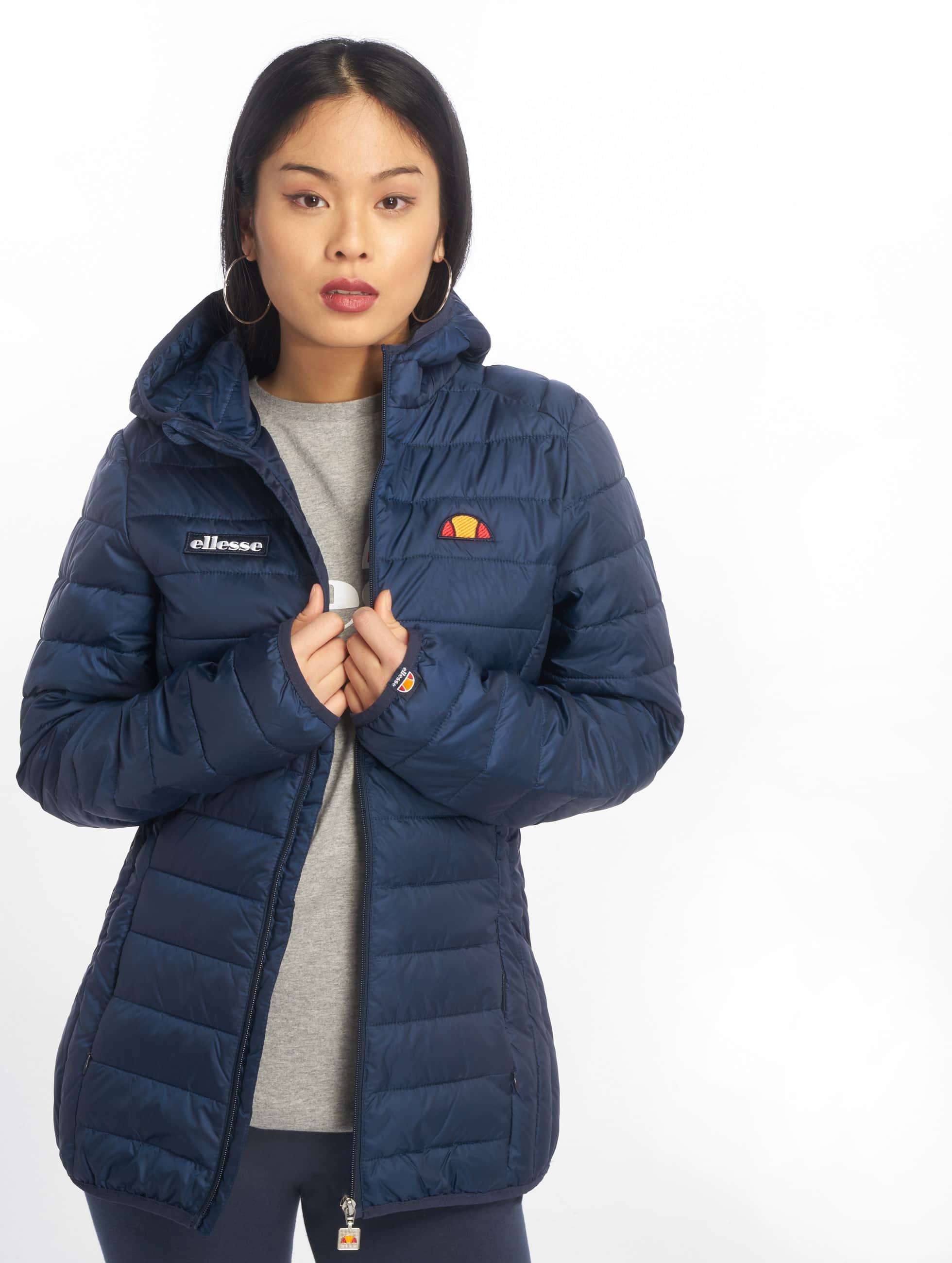 ellesse lompard padded bleu femme veste mi saison l g re 417861. Black Bedroom Furniture Sets. Home Design Ideas